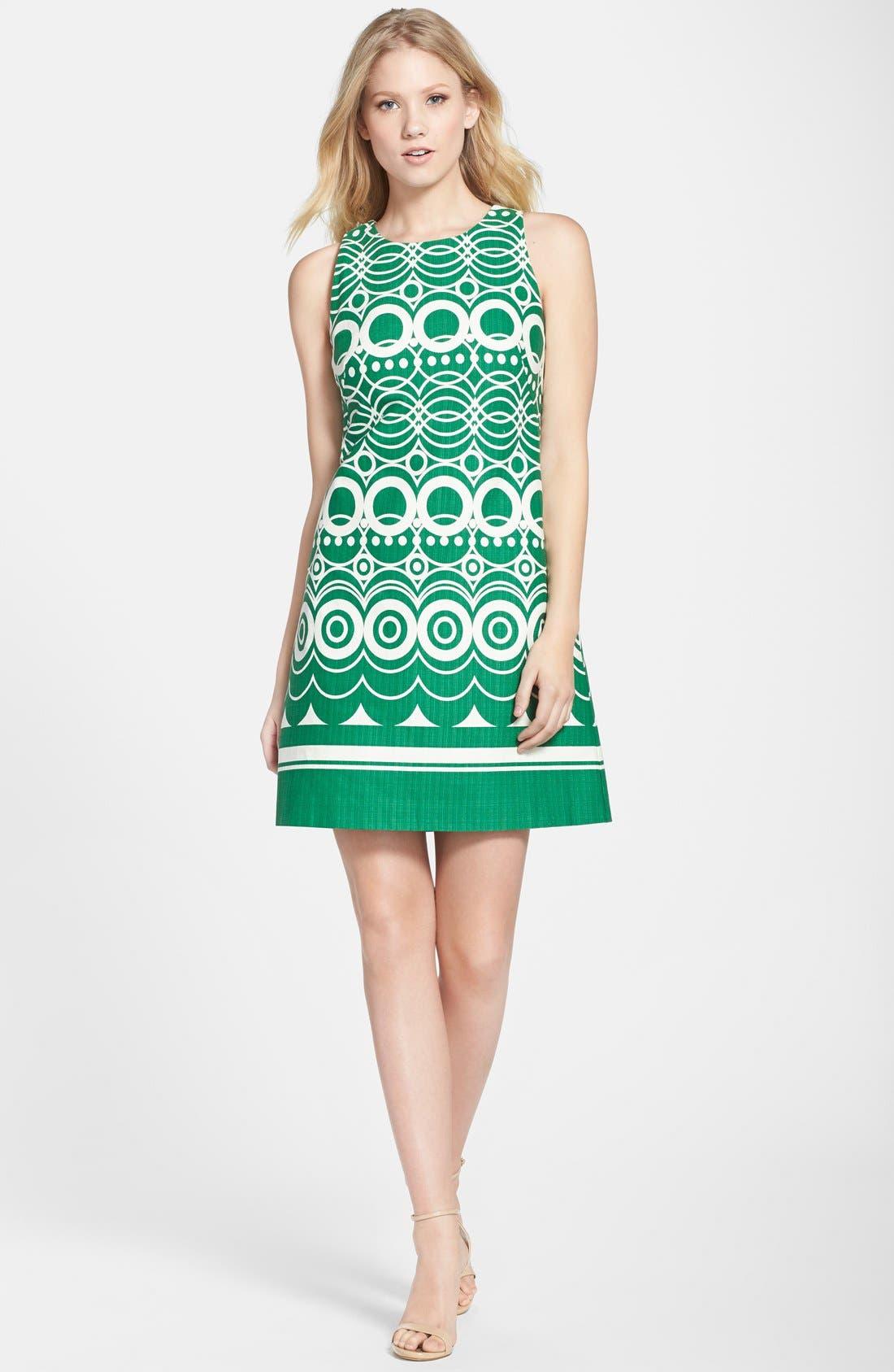 Alternate Image 3  - Eliza J Graphic Print Cotton Shift Dress (Regular & Petite)