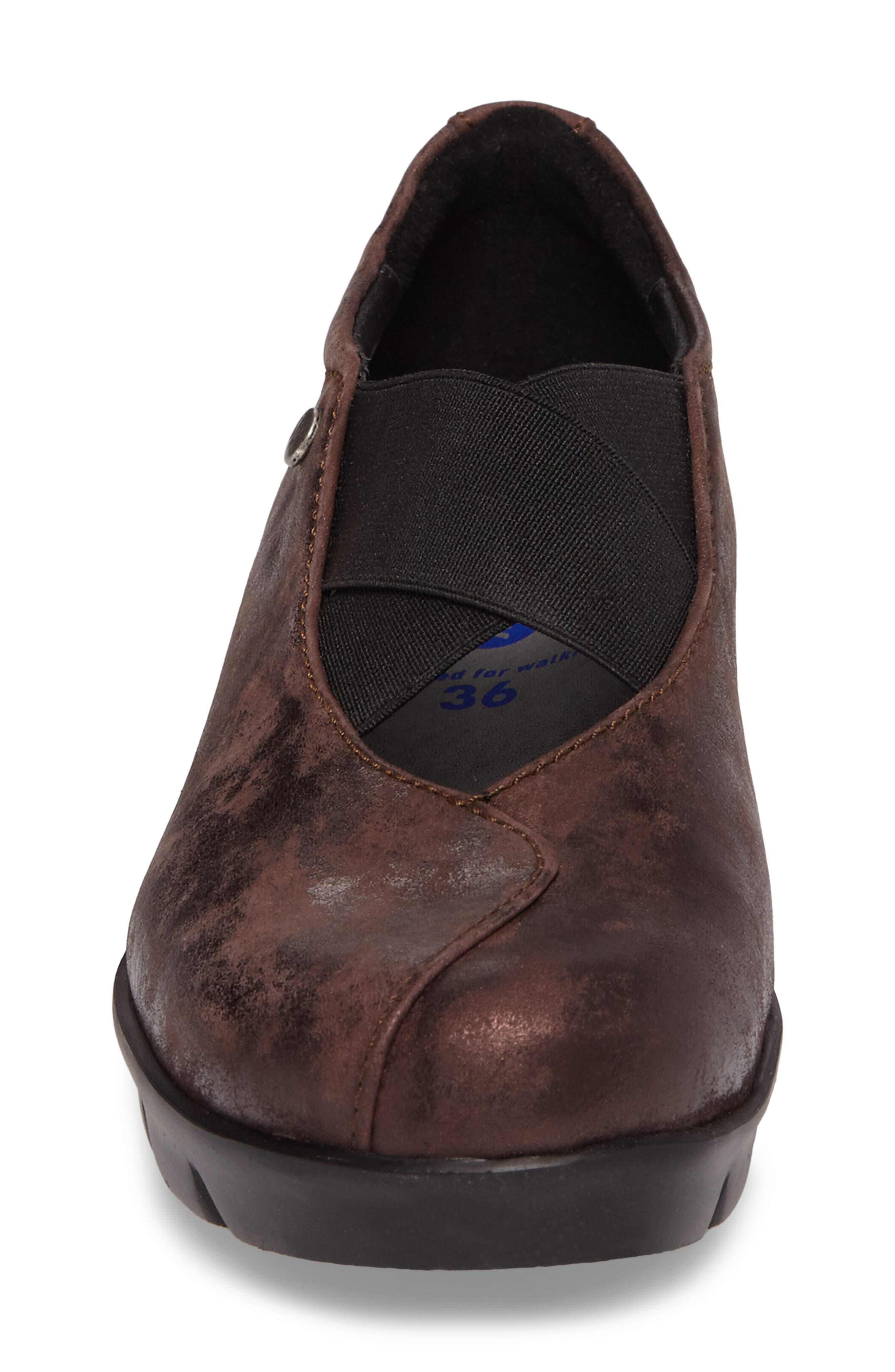 Cursa Slip-On Sneaker,                             Alternate thumbnail 4, color,                             Mocha Leather