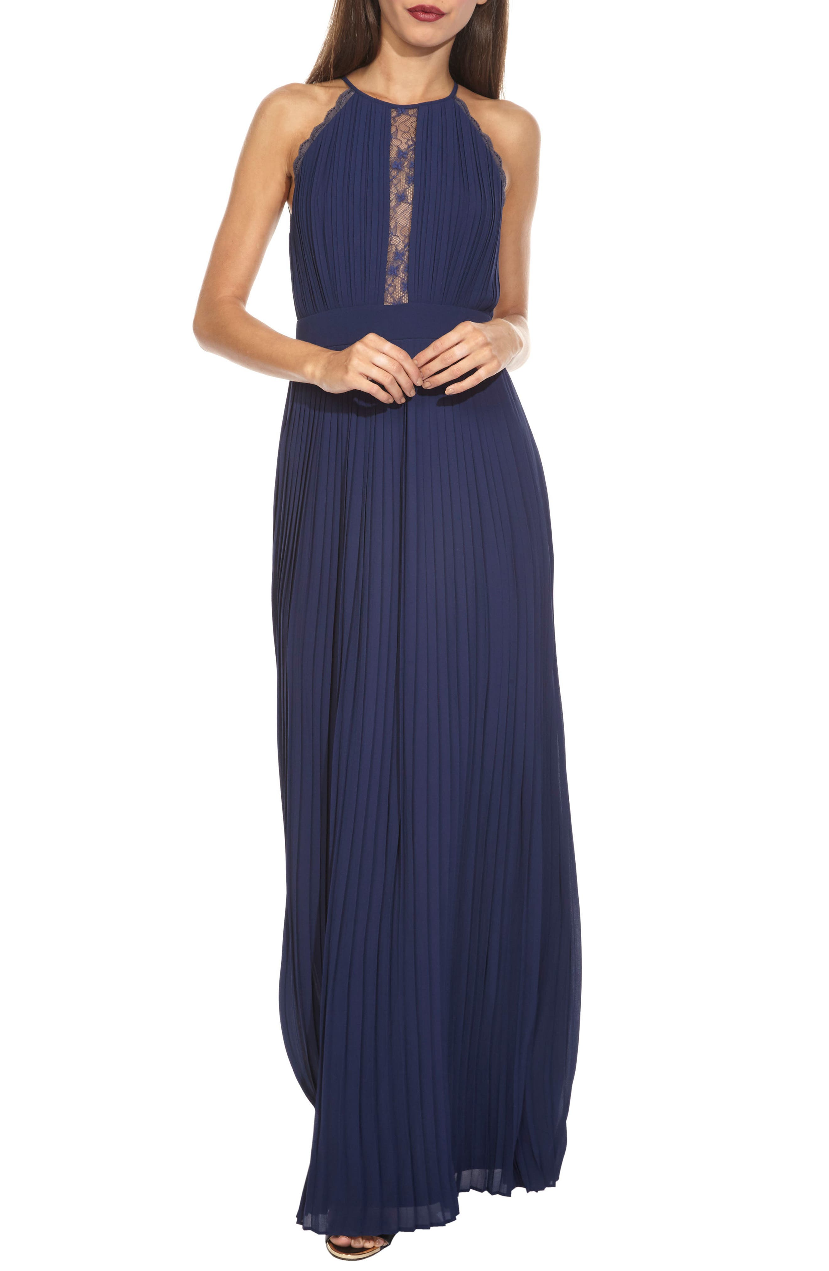 Alternate Image 1 Selected - TFNC Haven Halter Neck Gown