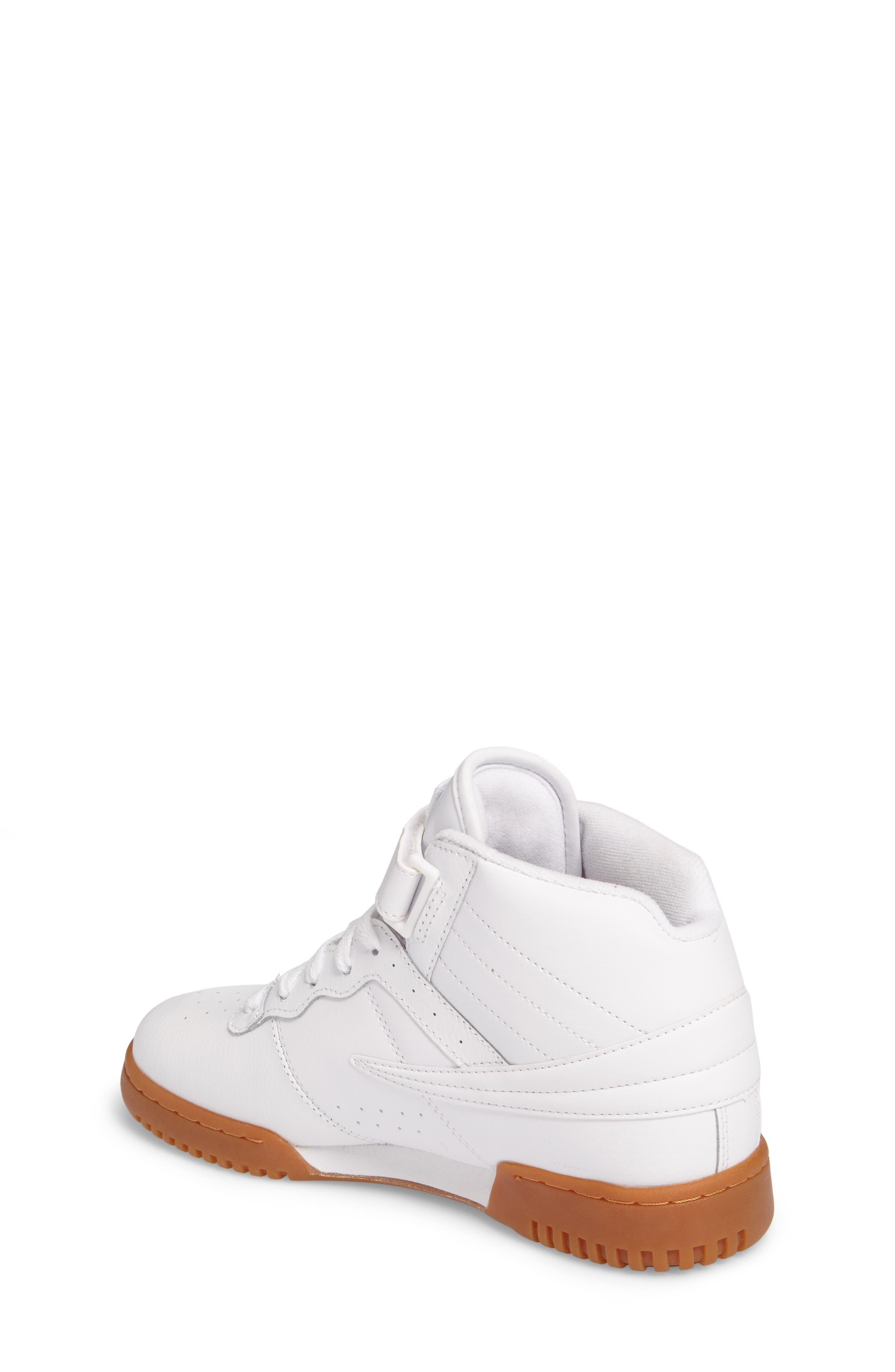 Original Fitness Logo Mid Top Sneaker,                             Alternate thumbnail 2, color,                             White/ Navy/ Red