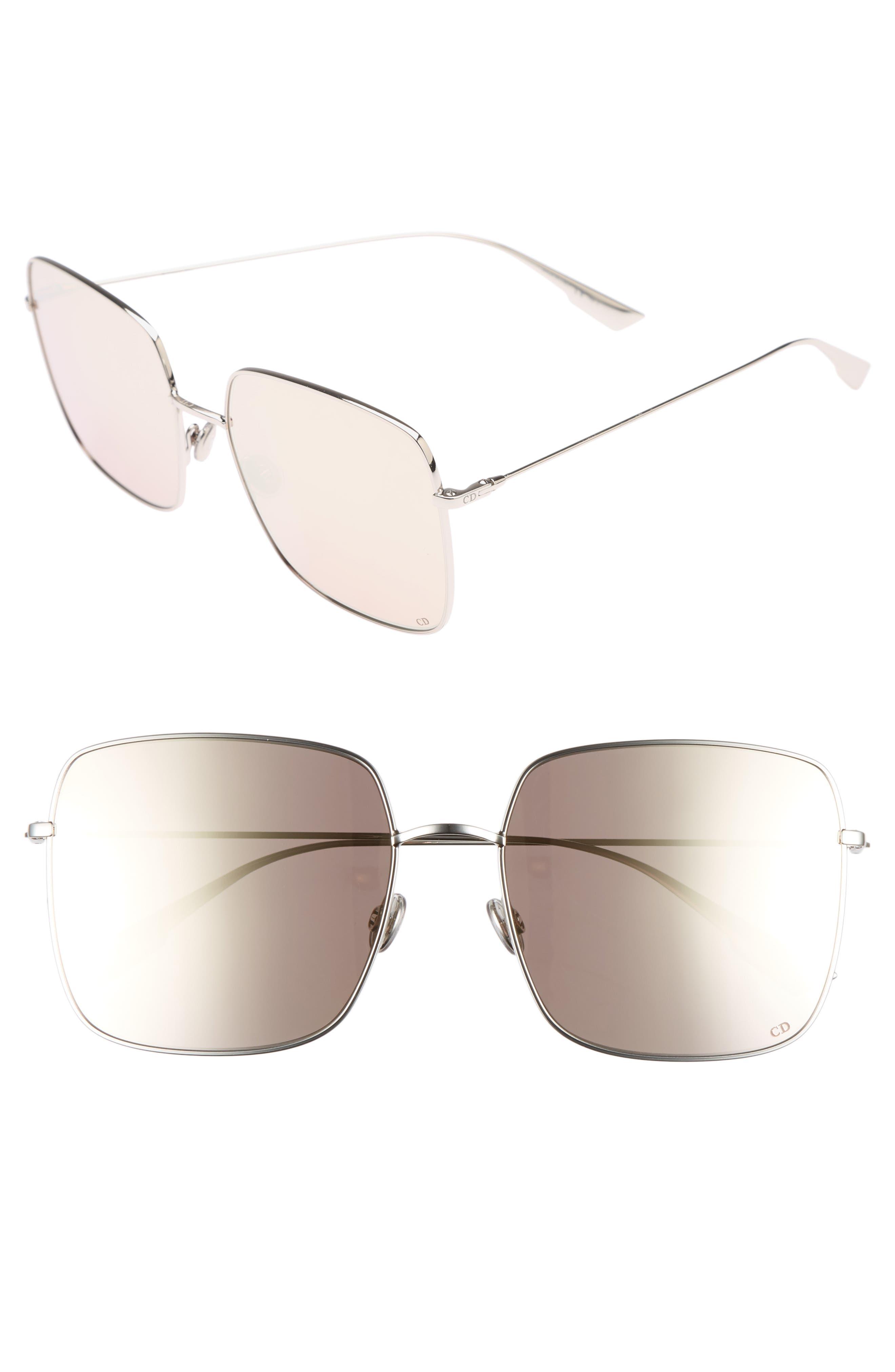 Stellaire 1 59mm Square Sunglasses,                         Main,                         color, Palladium
