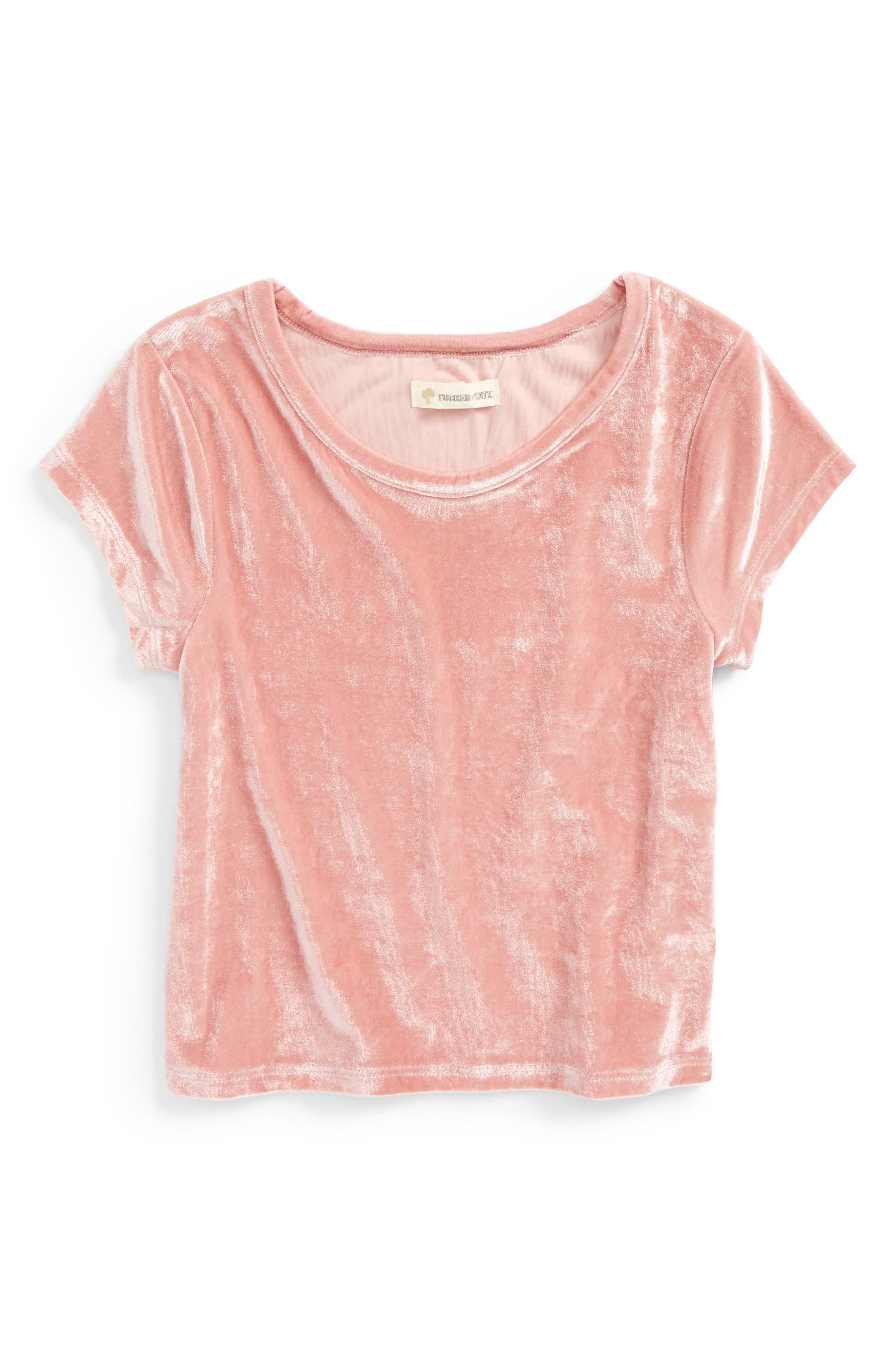 Velvet Tee,                         Main,                         color, Pink Zephyr