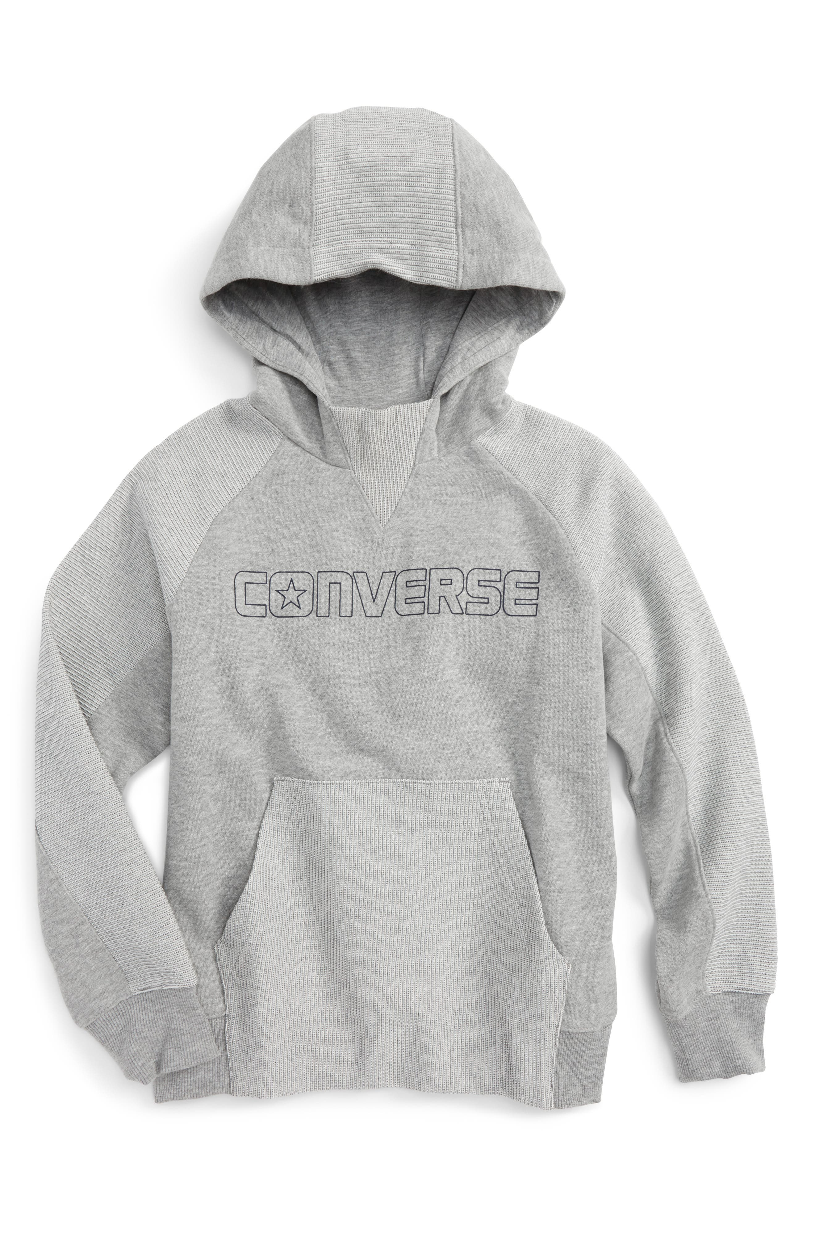 Converse Textured Knit Hoodie (Big Boys)