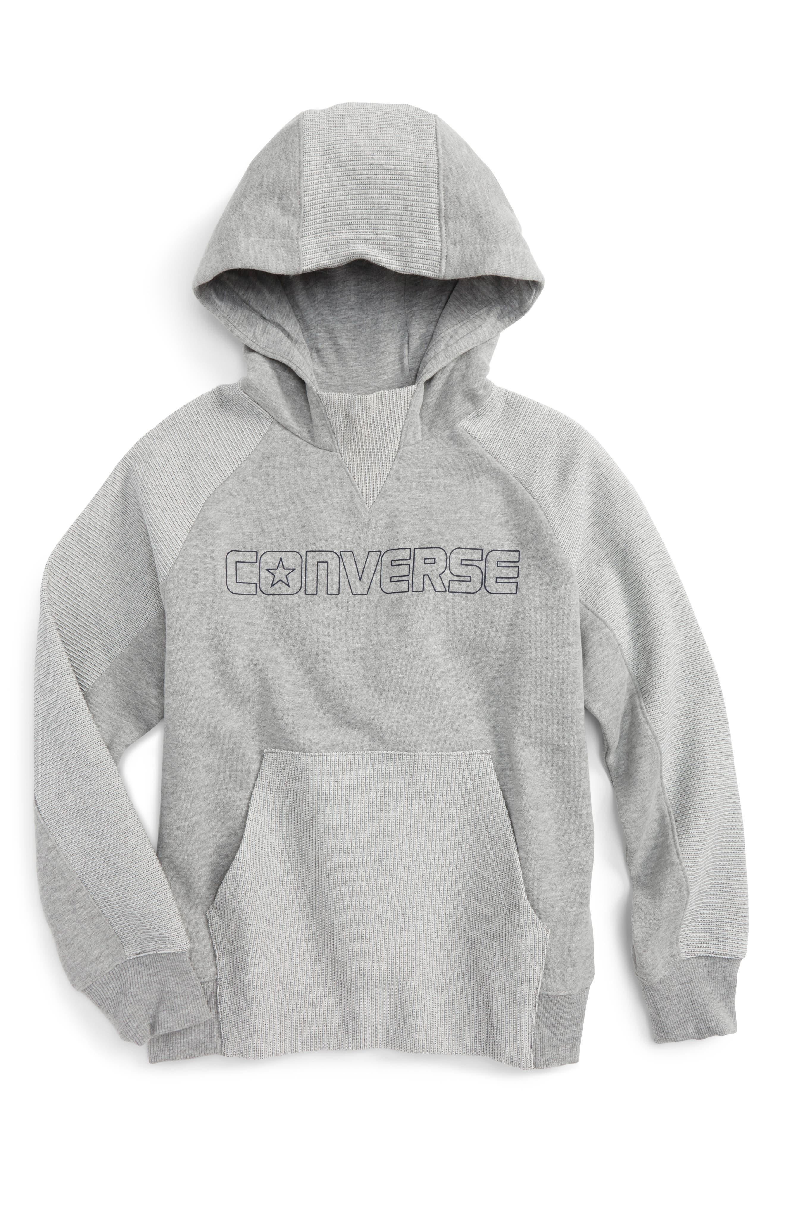 Converse Textured Knit Hoodie (Big Boys)