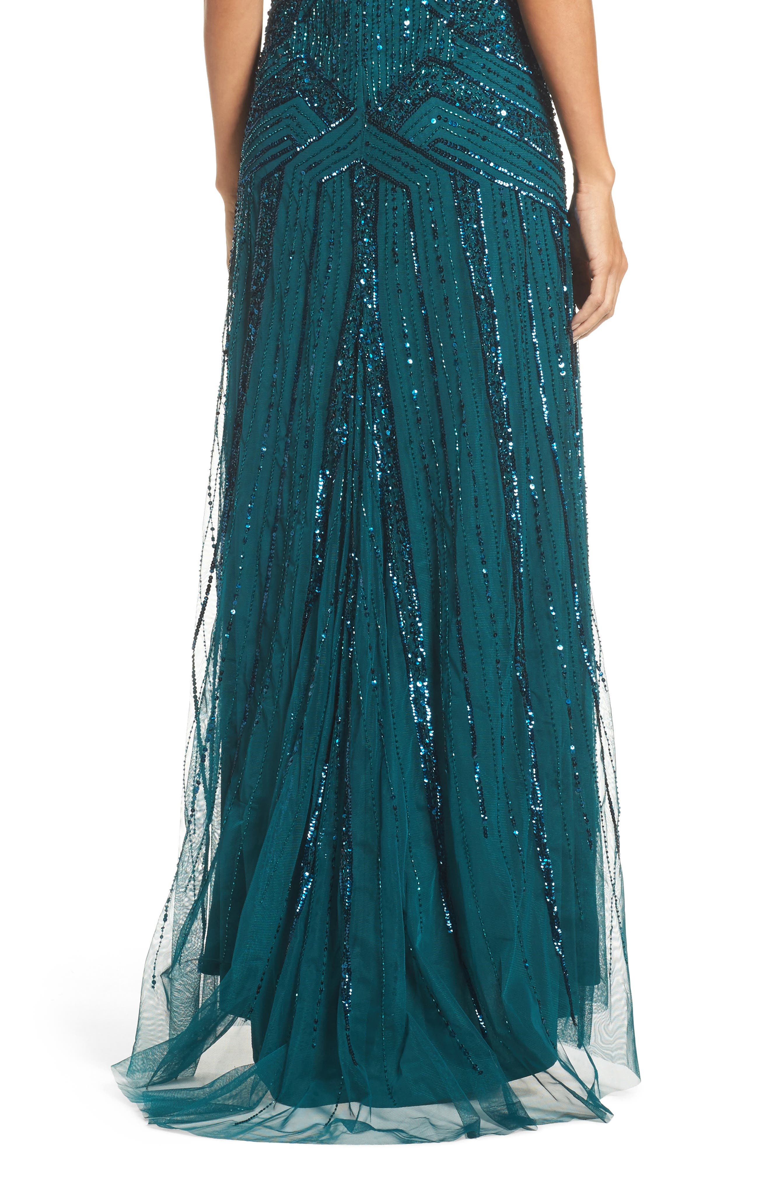 Alternate Image 4  - Adrianna Papell Embellished Short Sleeve Gown