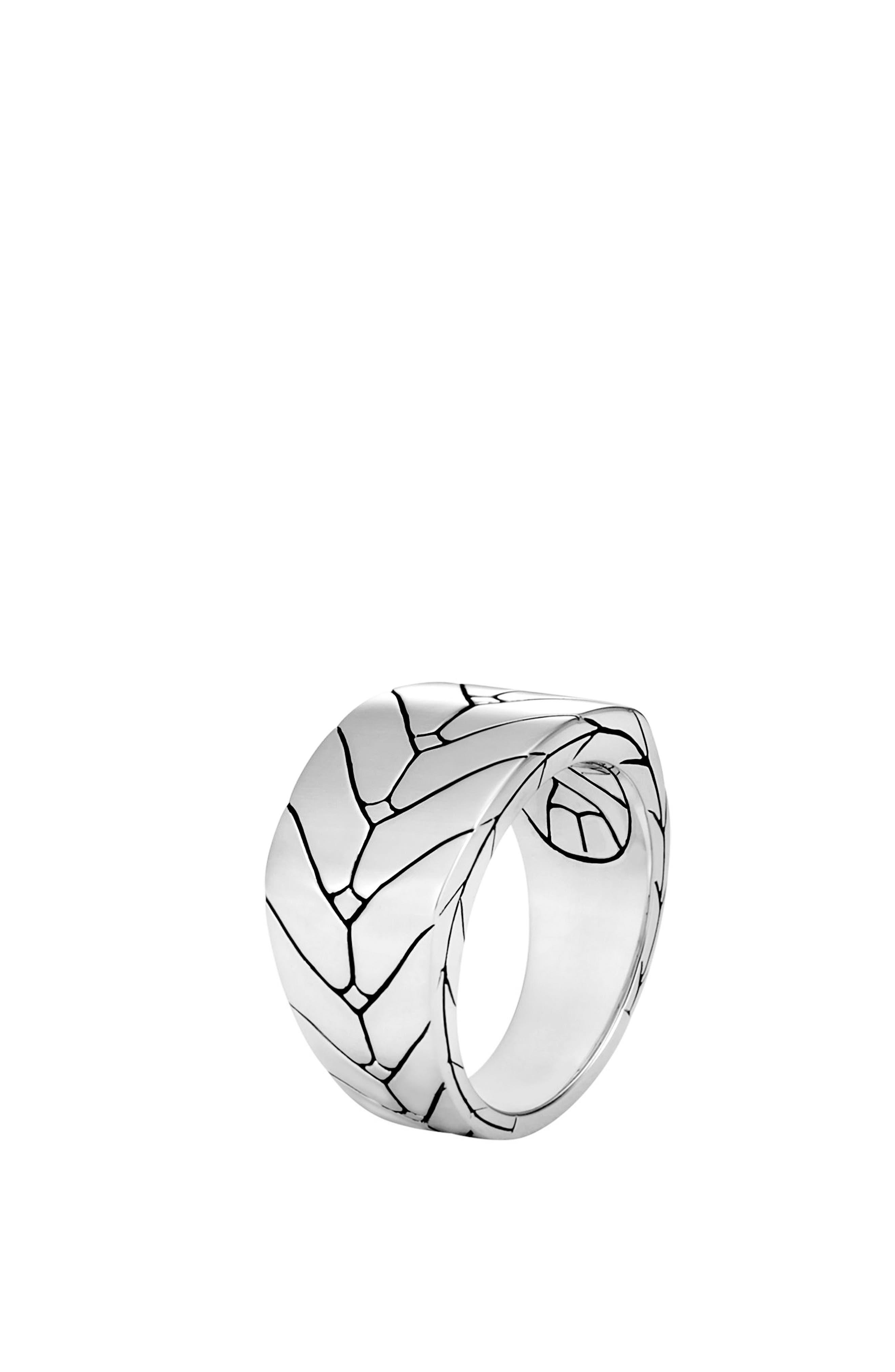 Modern Chain Ring,                             Main thumbnail 1, color,                             Silver