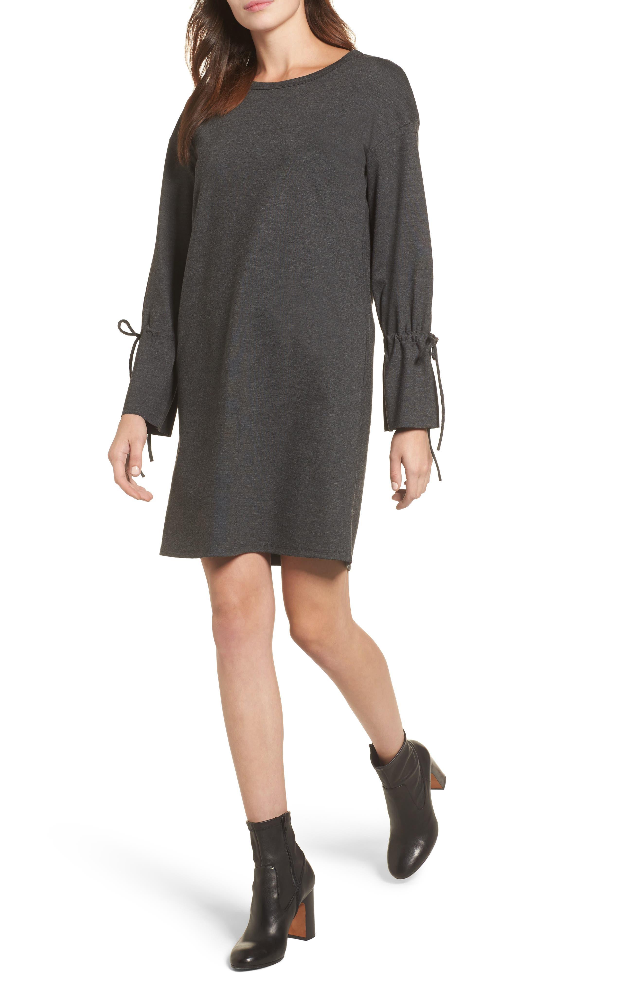 Halogen® Cinch Cuff Shift Dress (Regular & Petite)