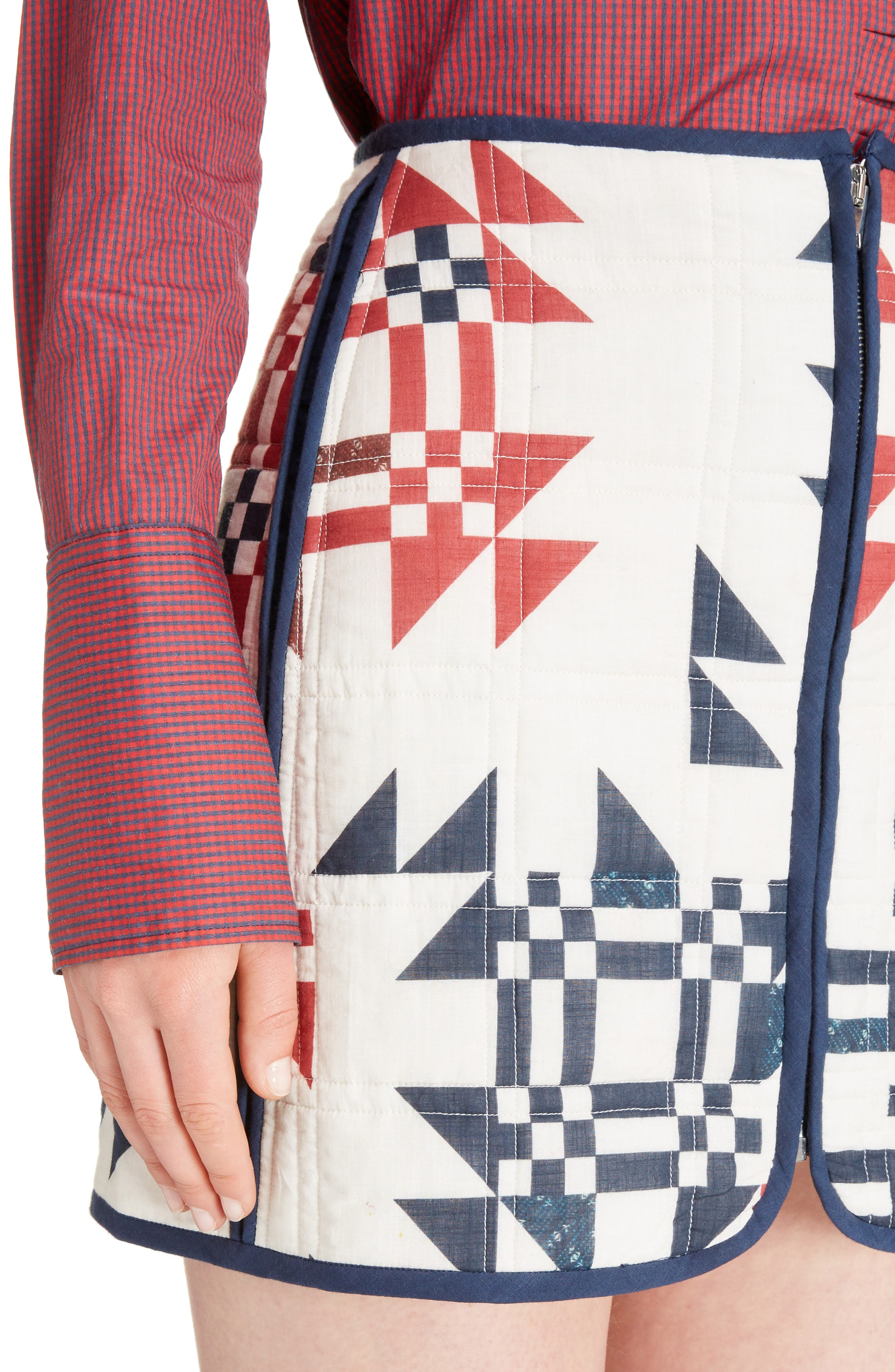 Alternate Image 4  - Isabel Marant Lickly Origami Quilted Cotton Skirt