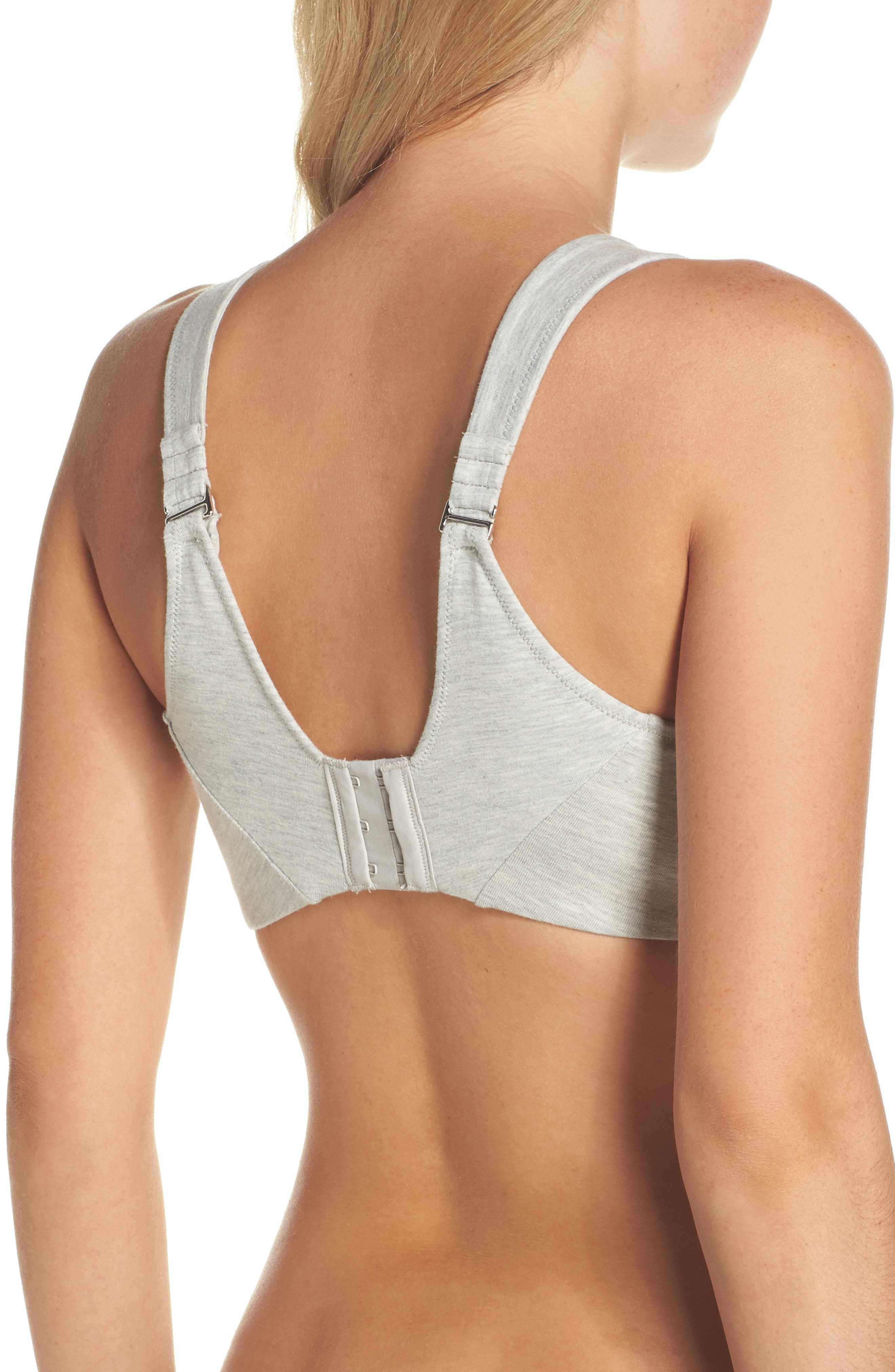 Underwire Sports Bra,                             Alternate thumbnail 2, color,                             Heather Grey