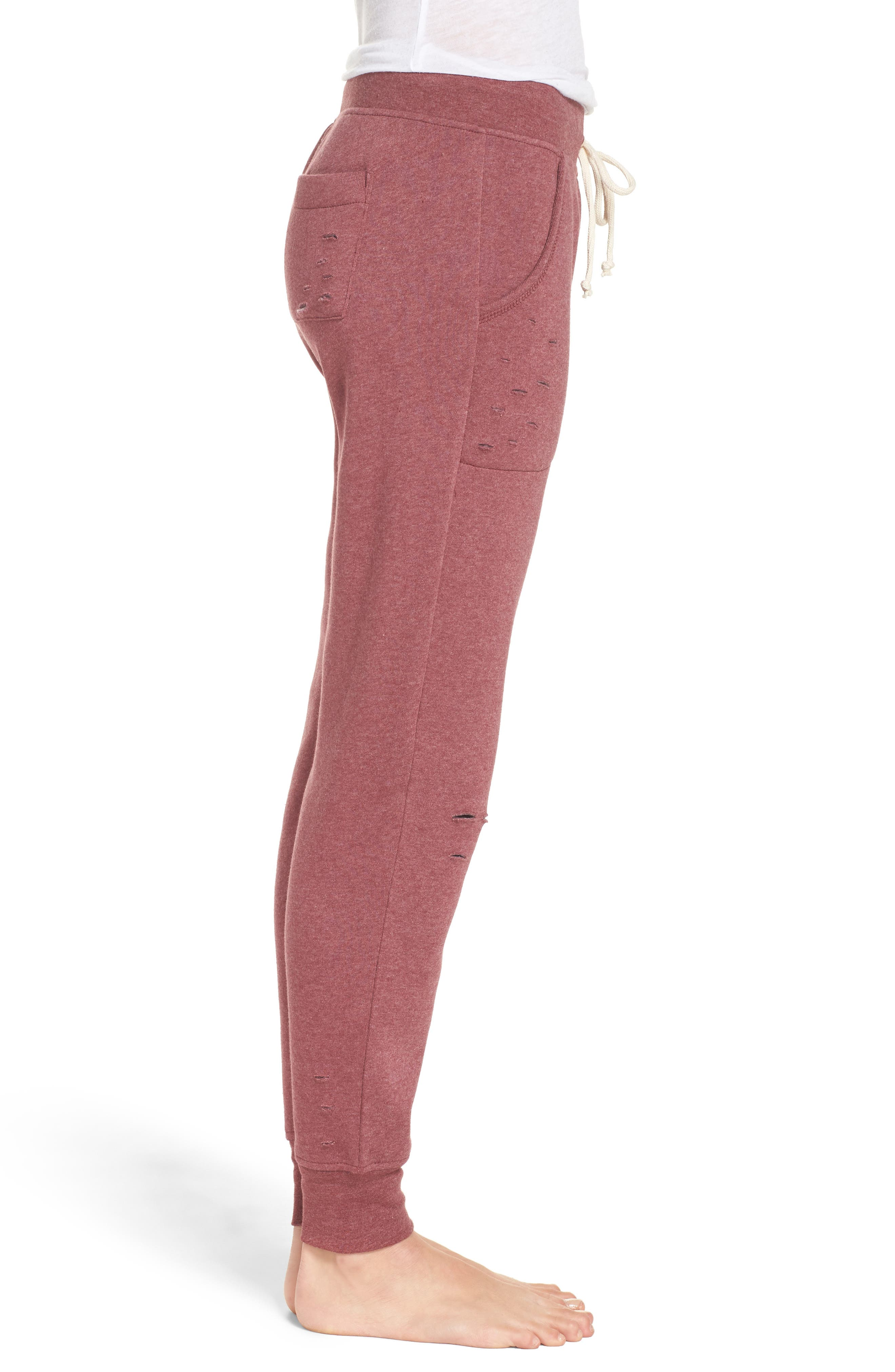 Alternate Image 3  - Alternative Distressed Eco Fleece Jogger Pants