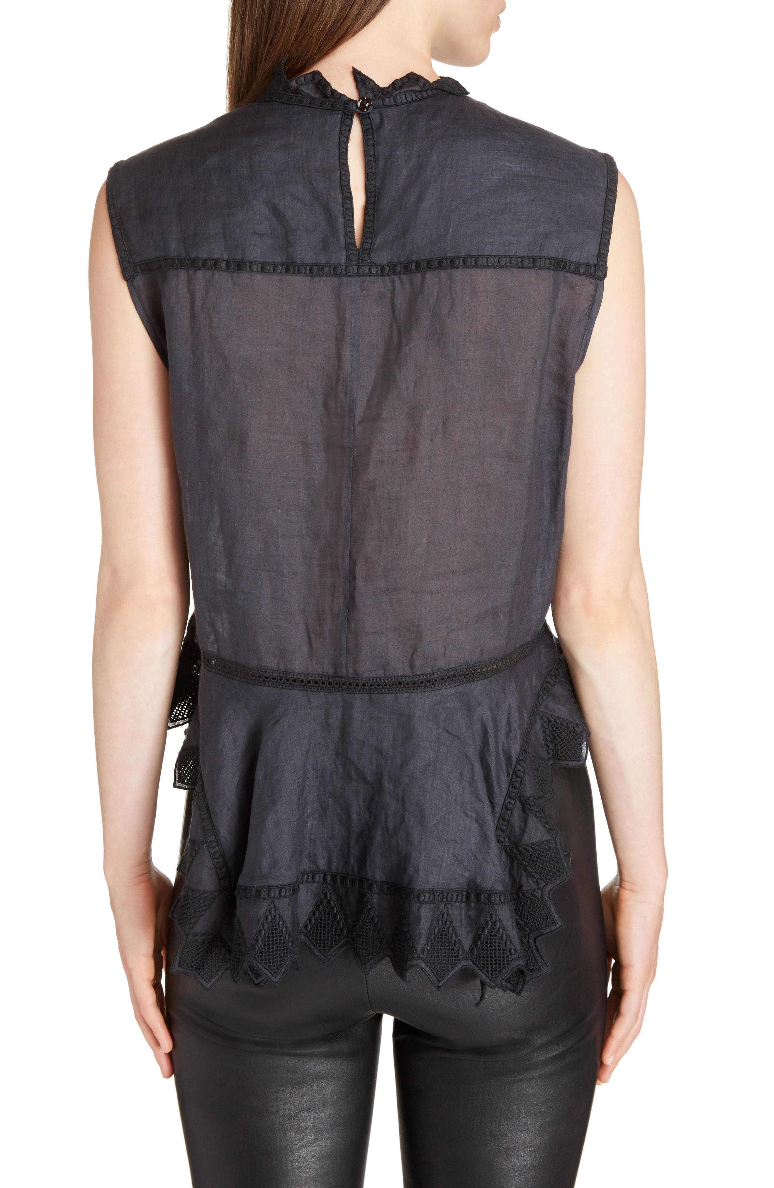 Nust Embroidered Top,                             Alternate thumbnail 2, color,                             Black