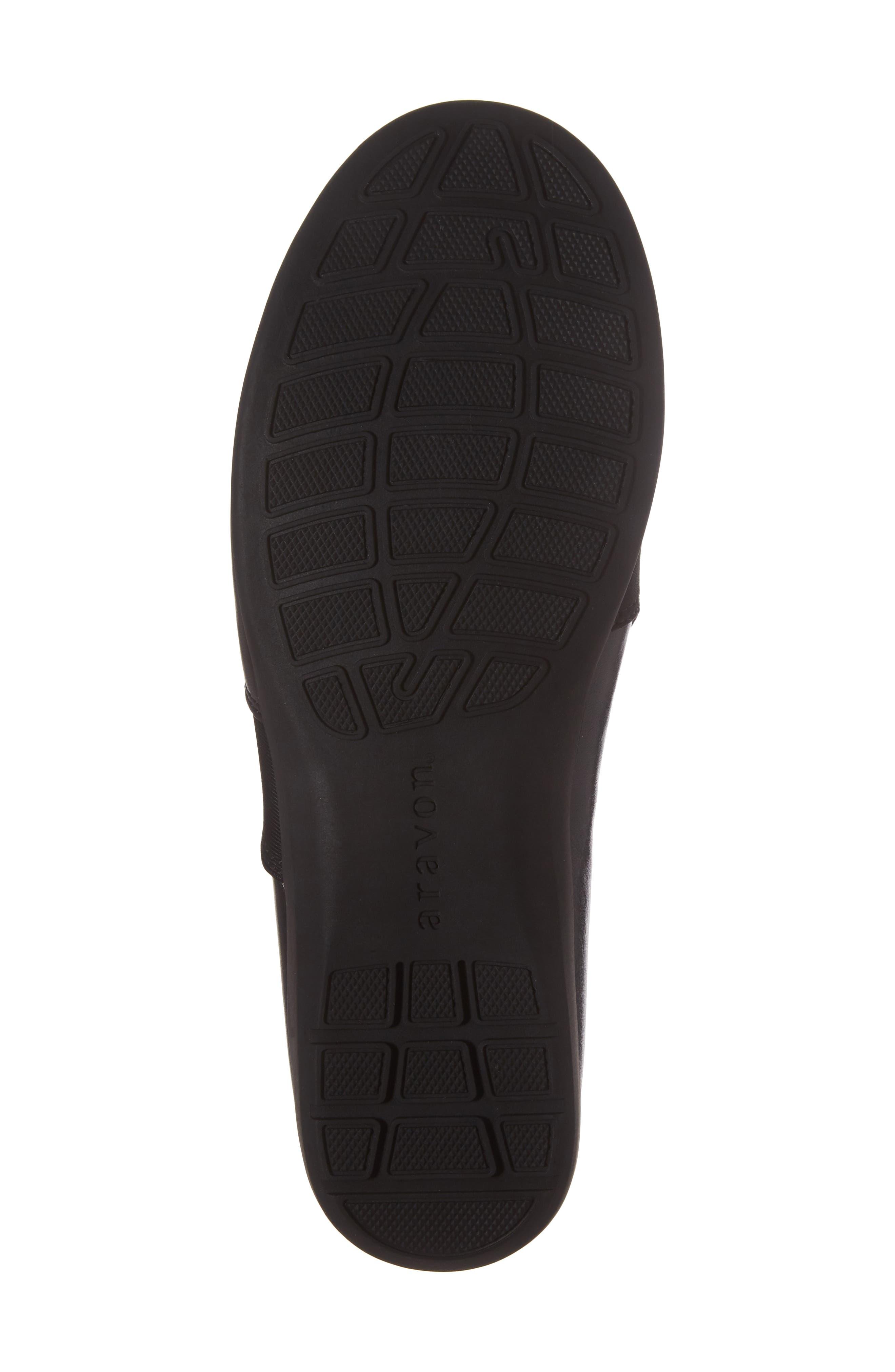 Abbey Slip-On,                             Alternate thumbnail 5, color,                             Black Leather