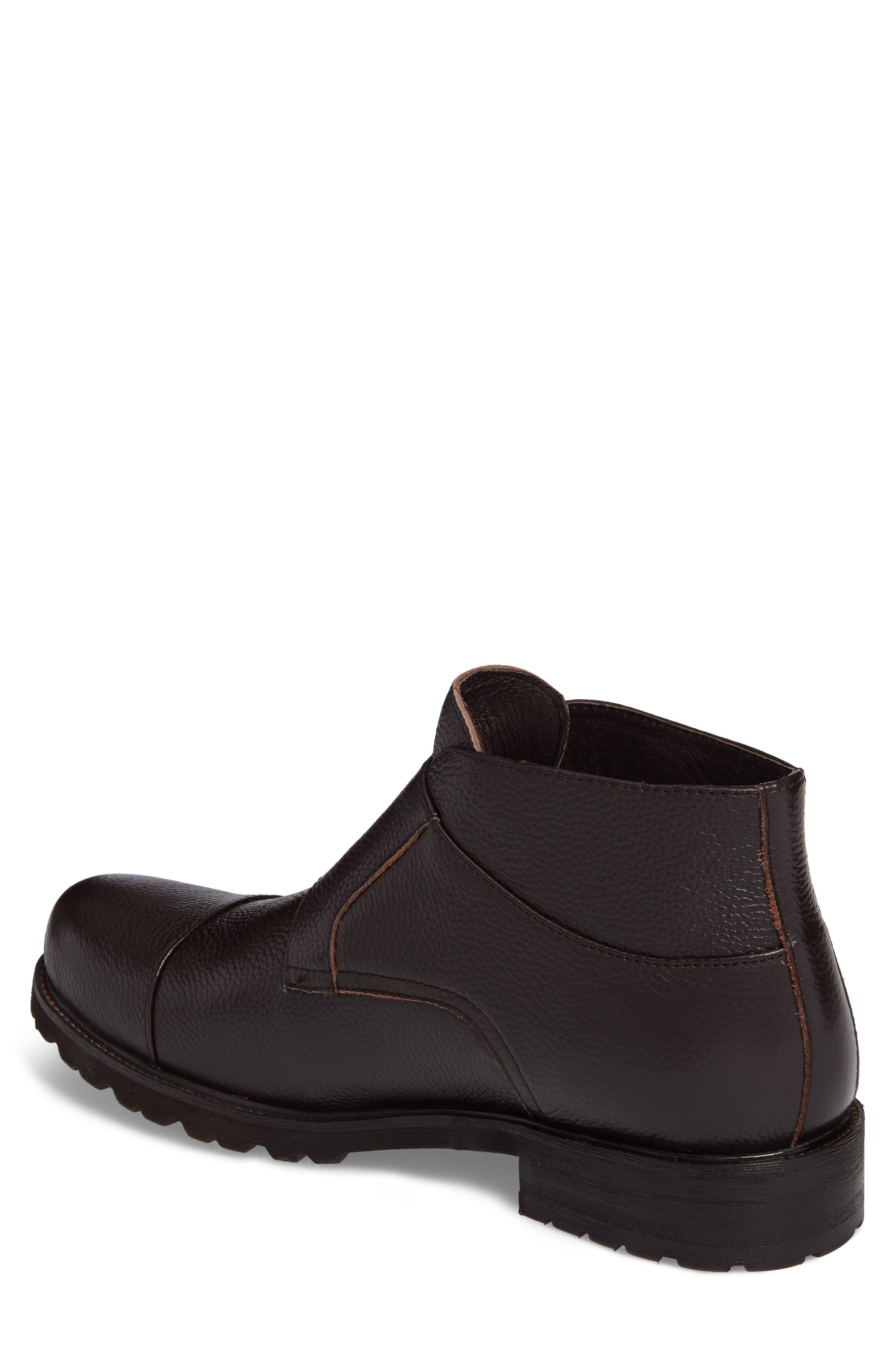 Koller Cap Toe Double Monk Boot,                             Alternate thumbnail 2, color,                             Black Leather