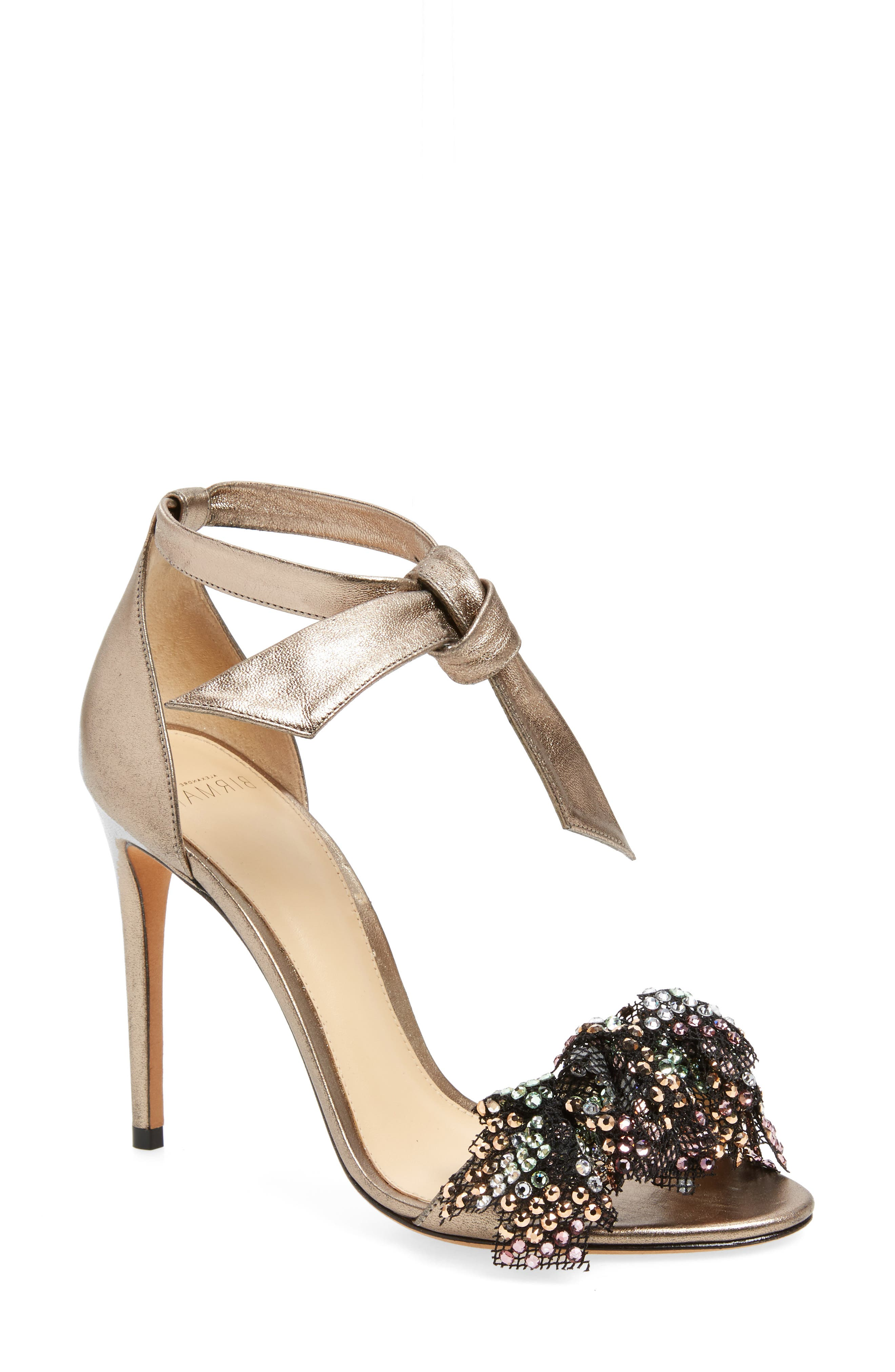 Alternate Image 1 Selected - Alexandre Birman Clarita Show Embellished Ankle Tie Sandal
