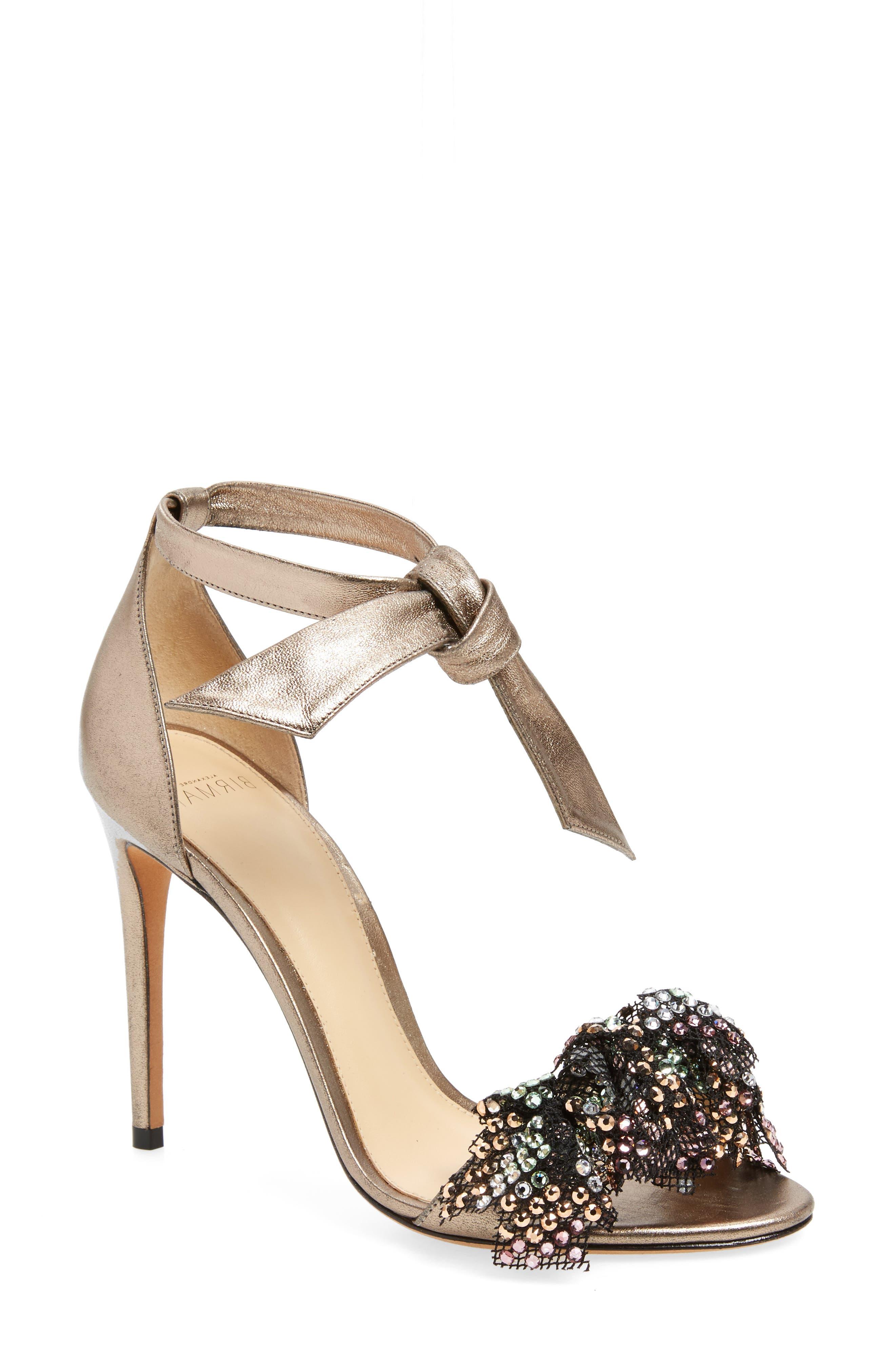 Main Image - Alexandre Birman Clarita Show Embellished Ankle Tie Sandal