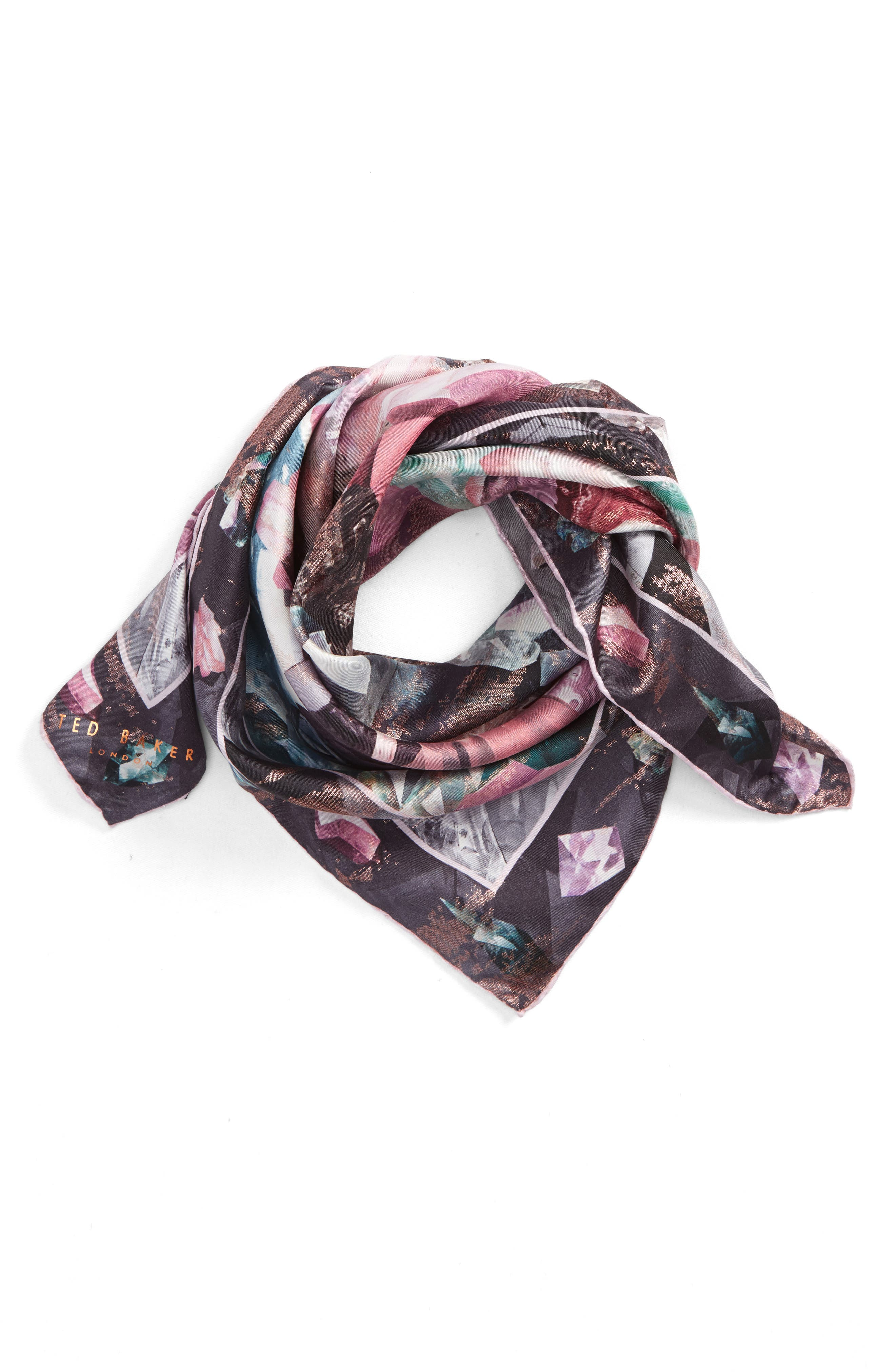 Alternate Image 1 Selected - Ted Baker London Mirrored Minerals Silk Scarf