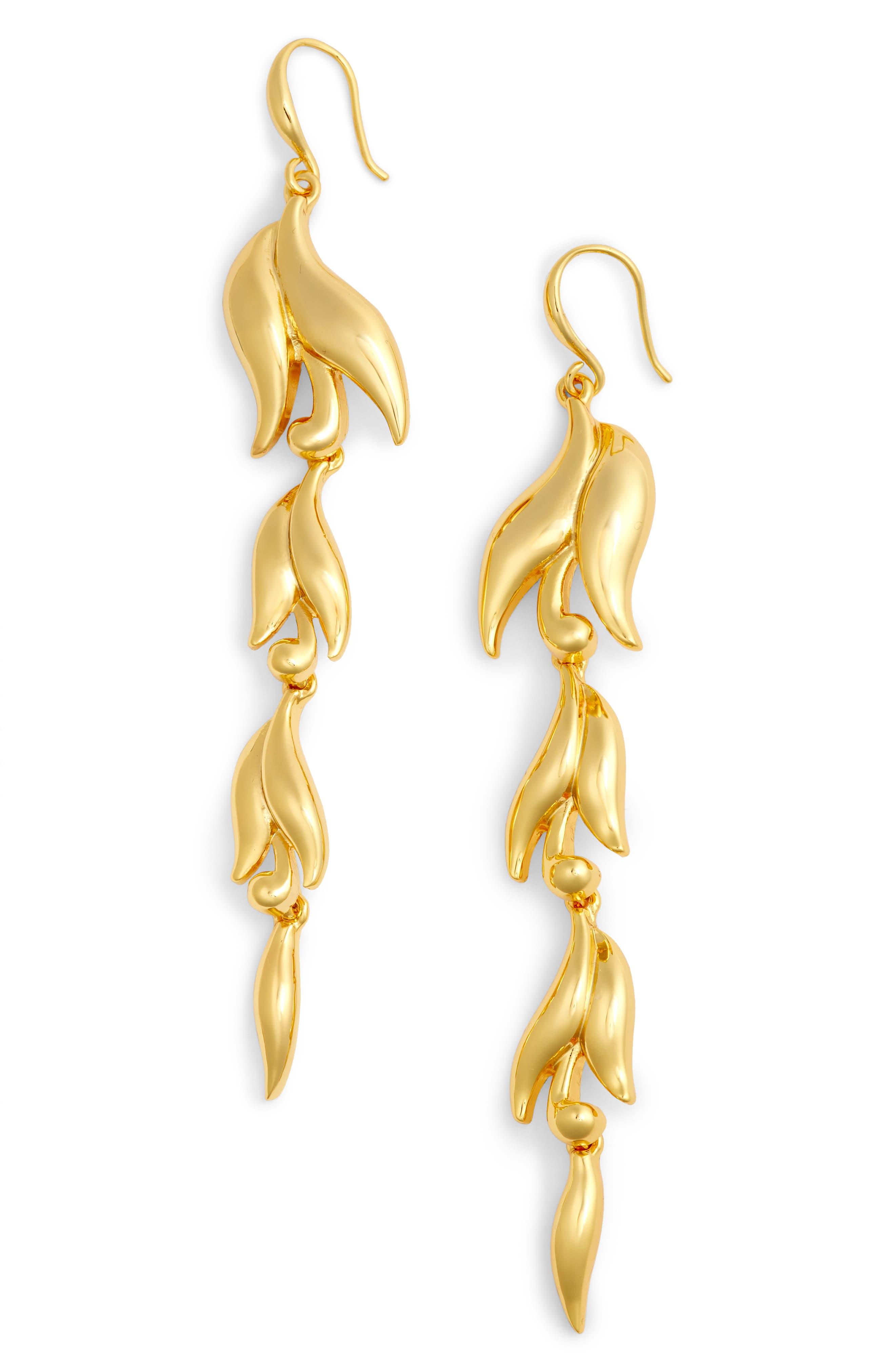 Swirl Drop Earrings,                         Main,                         color, Gold