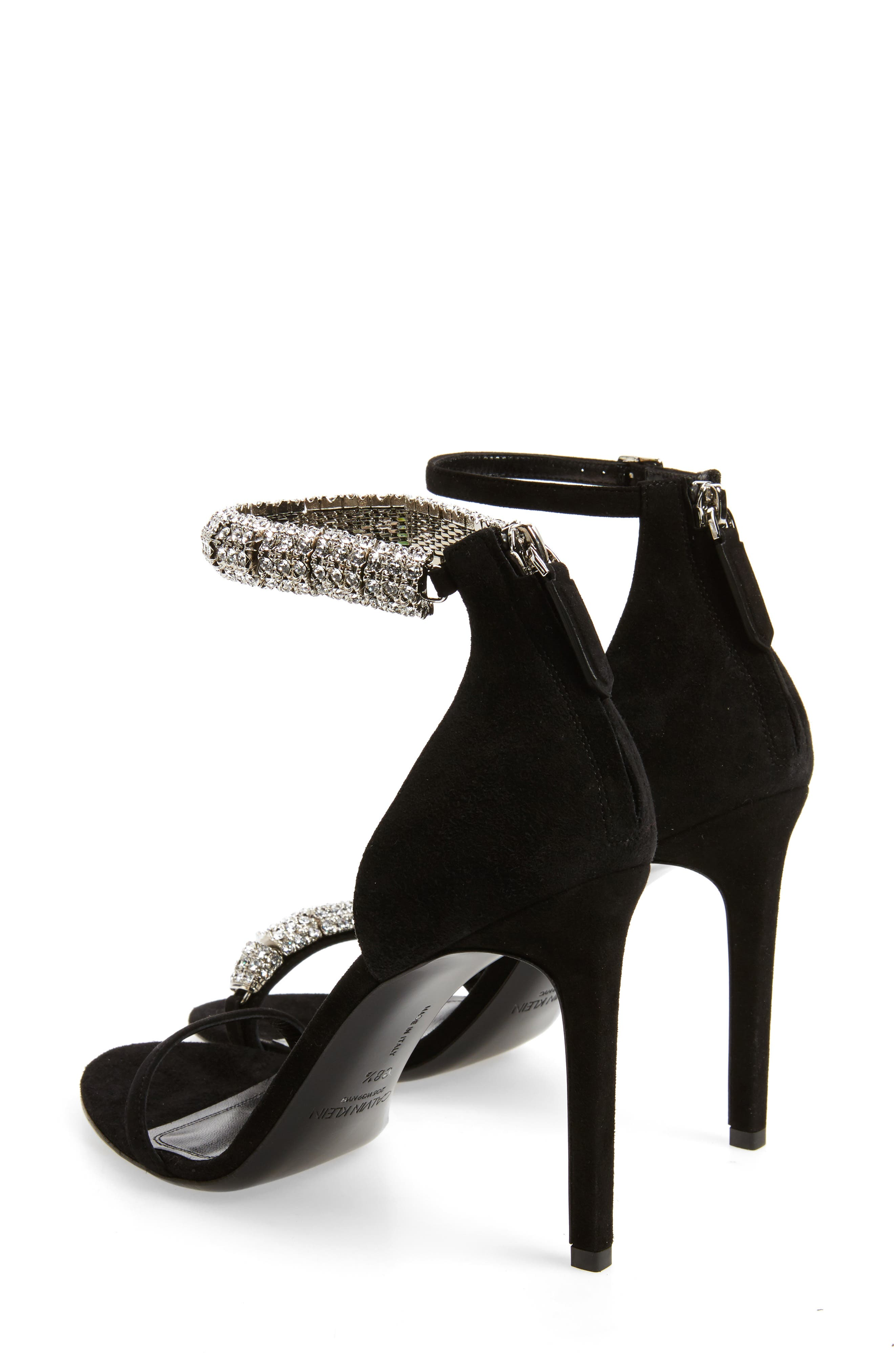 Camelle Sandal,                             Alternate thumbnail 2, color,                             Black Suede