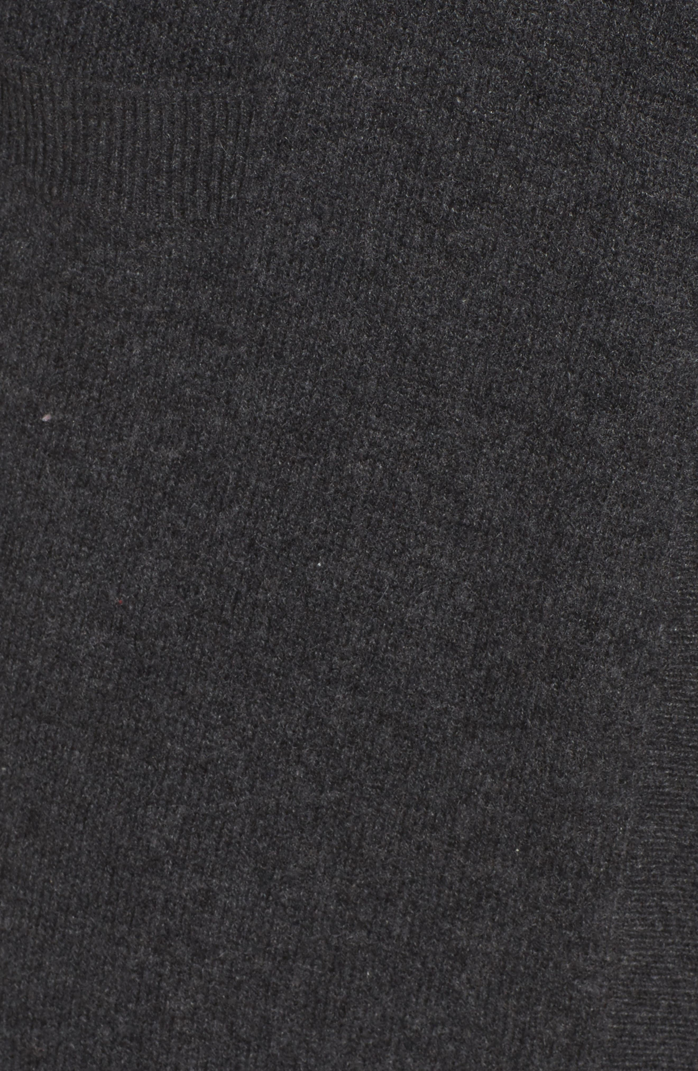 Cashmere Robe,                             Alternate thumbnail 6, color,                             Charcoal
