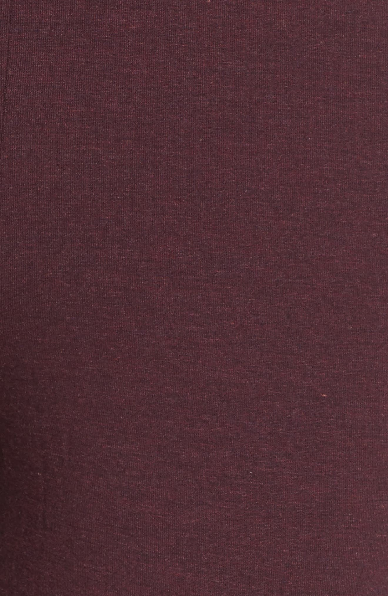 Jersey Lounge Pants,                             Alternate thumbnail 8, color,                             Burgundy
