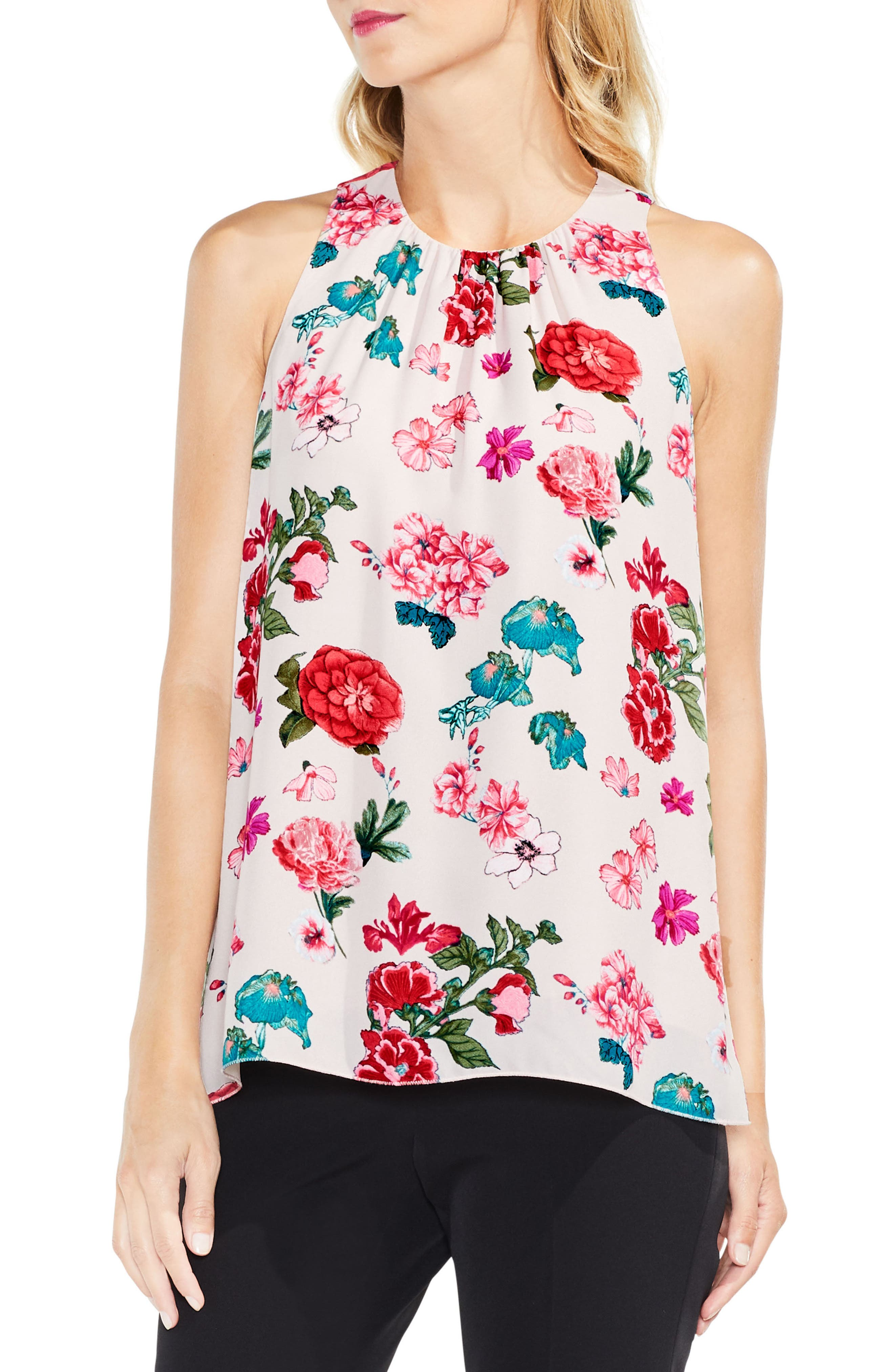 Alternate Image 1 Selected - Vince Camuto Floral Heirlooms Sleeveless Blouse