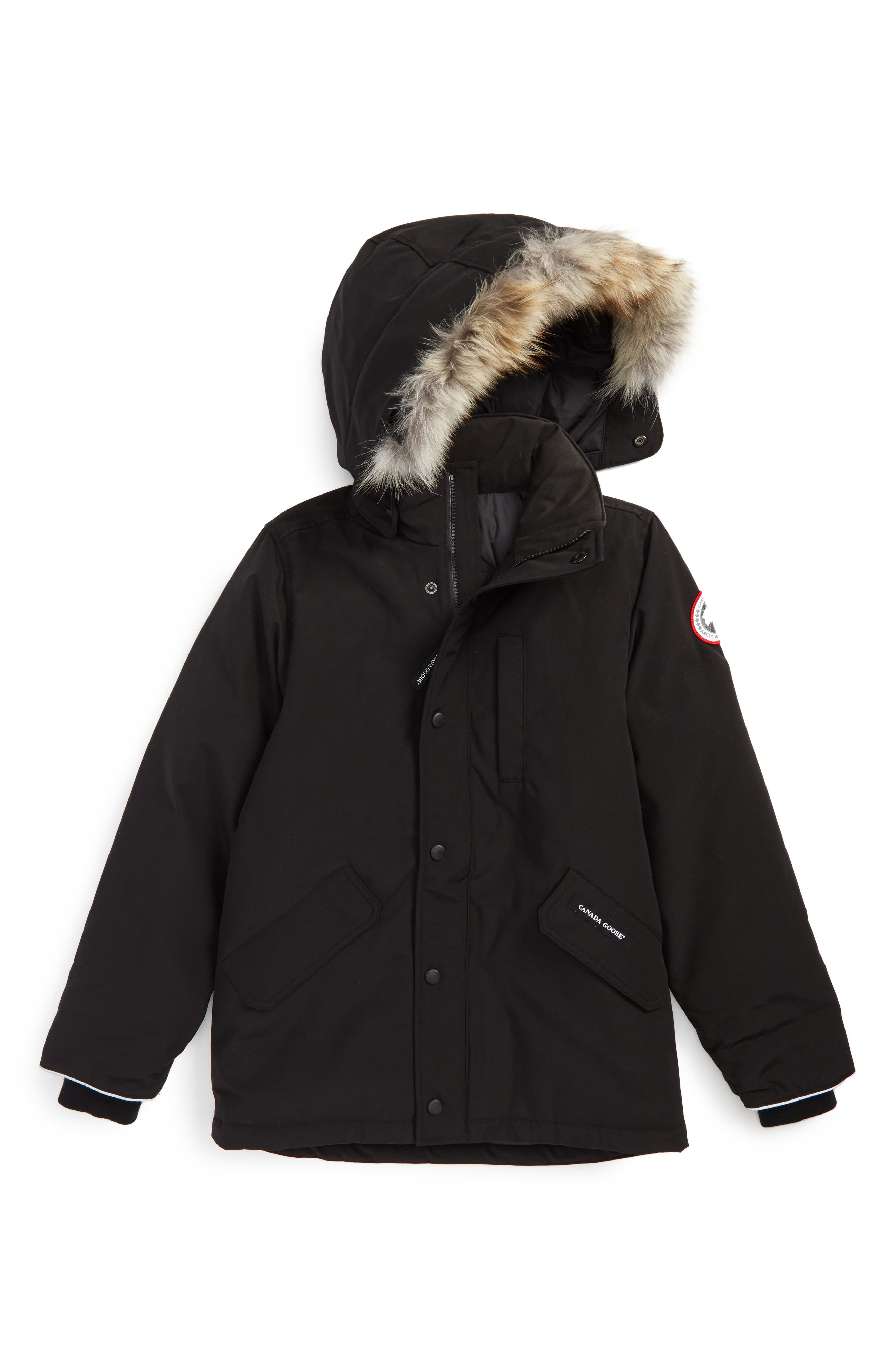 Alternate Image 1 Selected - Canada Goose 'Logan' Down Parka with Genuine Coyote Fur Trim (Little Kid & Big Kid)