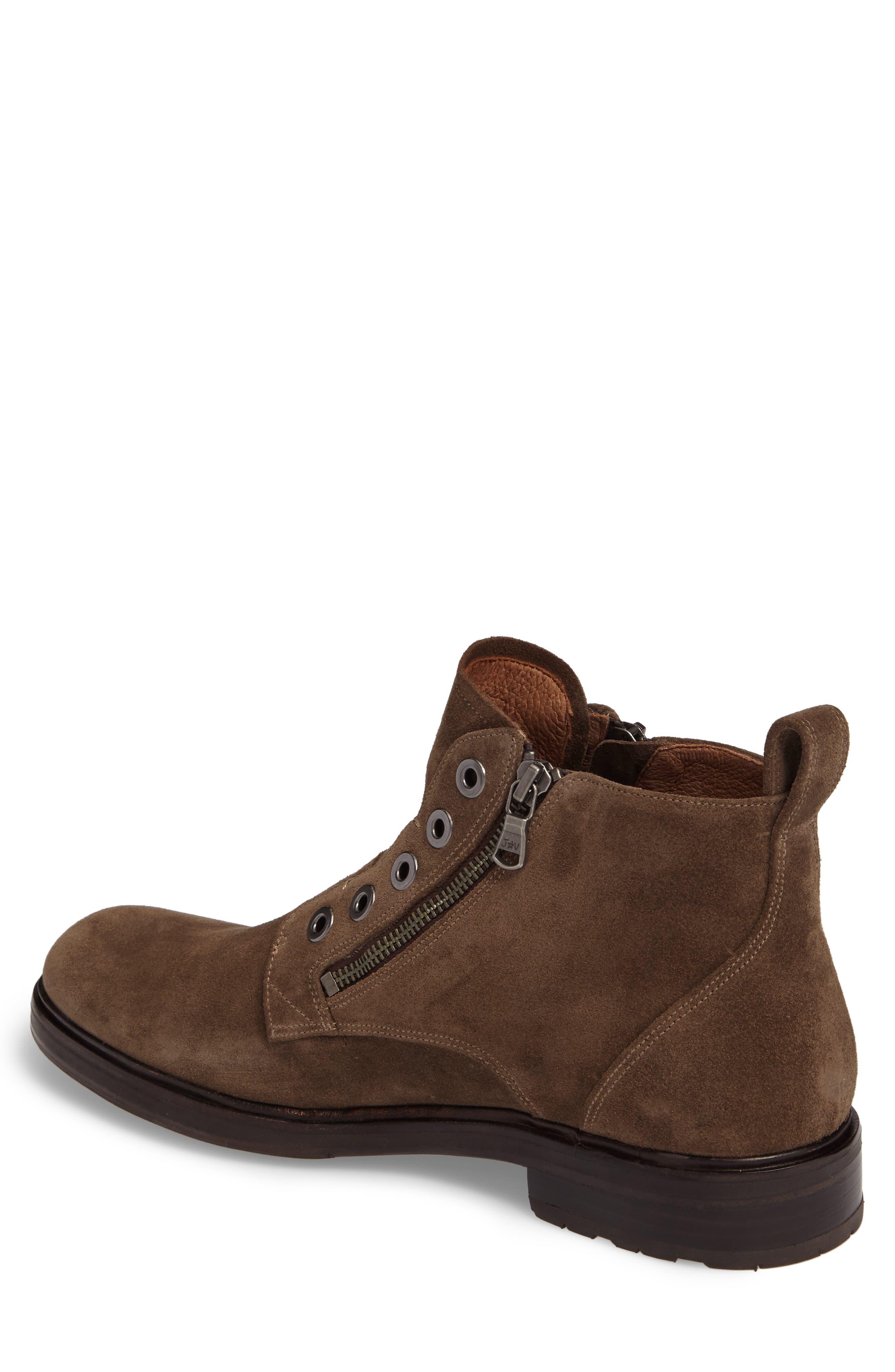 John Varvatos Star USA Waverley Zip Boot,                             Alternate thumbnail 2, color,                             Brown