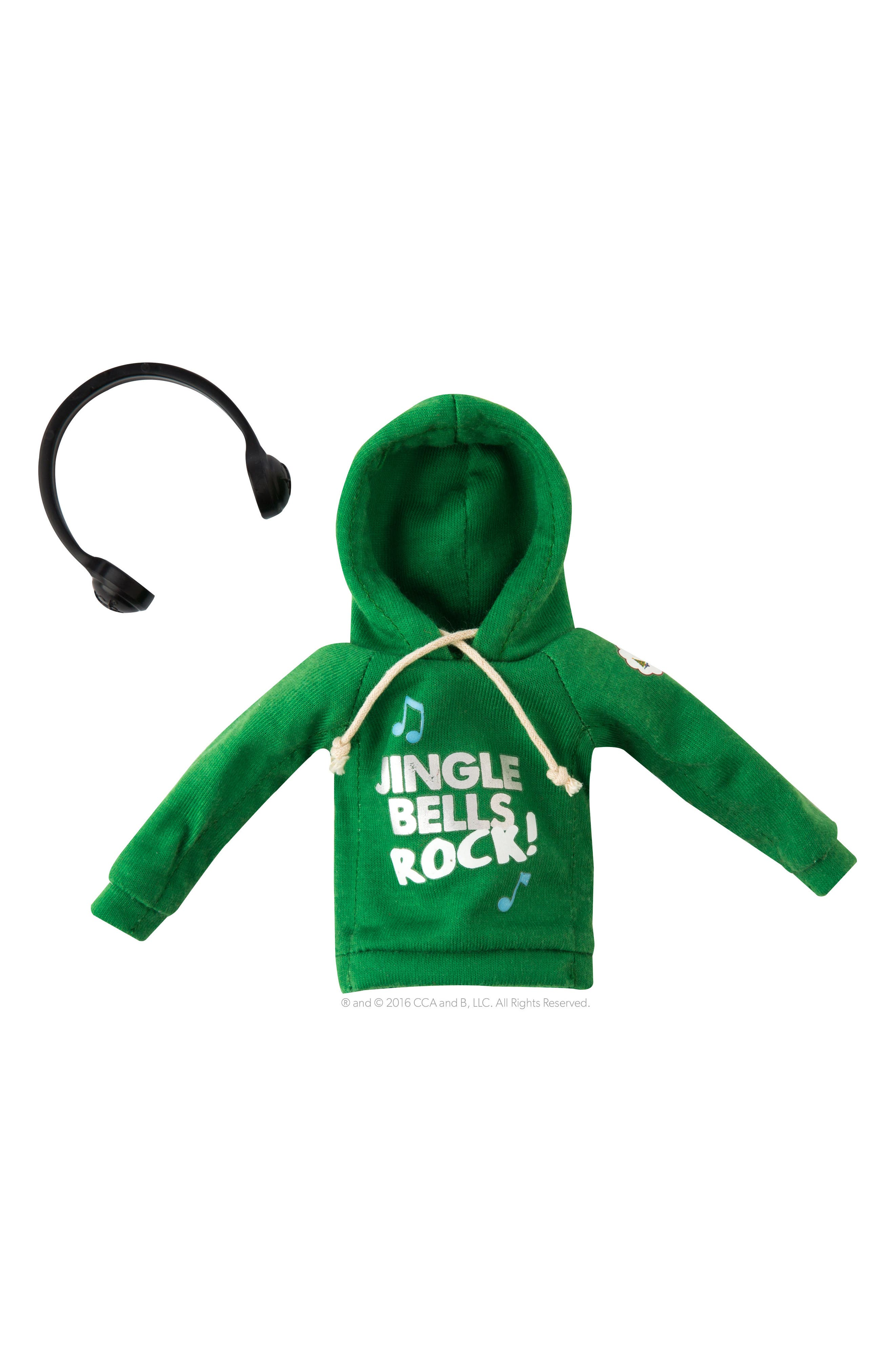 Elf on the Shelf Claus Couture Collection - Jingle Bells Rock Hoodie & Headphones Set
