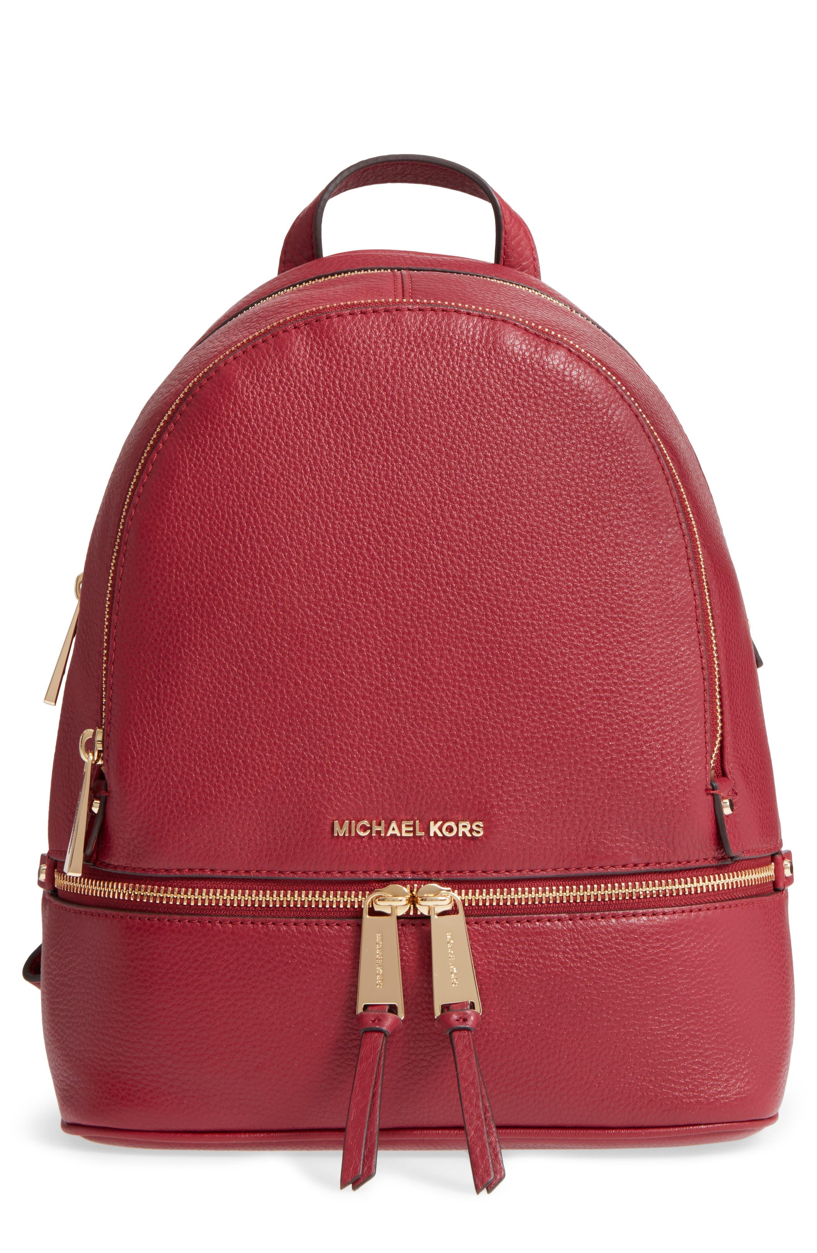 MICHAEL Michael Kors 'Extra Small Rhea Zip' Leather Backpack