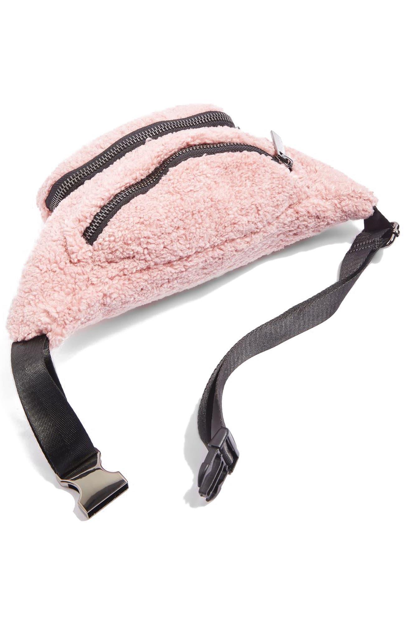 Alternate Image 3  - Topshop Benny Borg Belt Bag