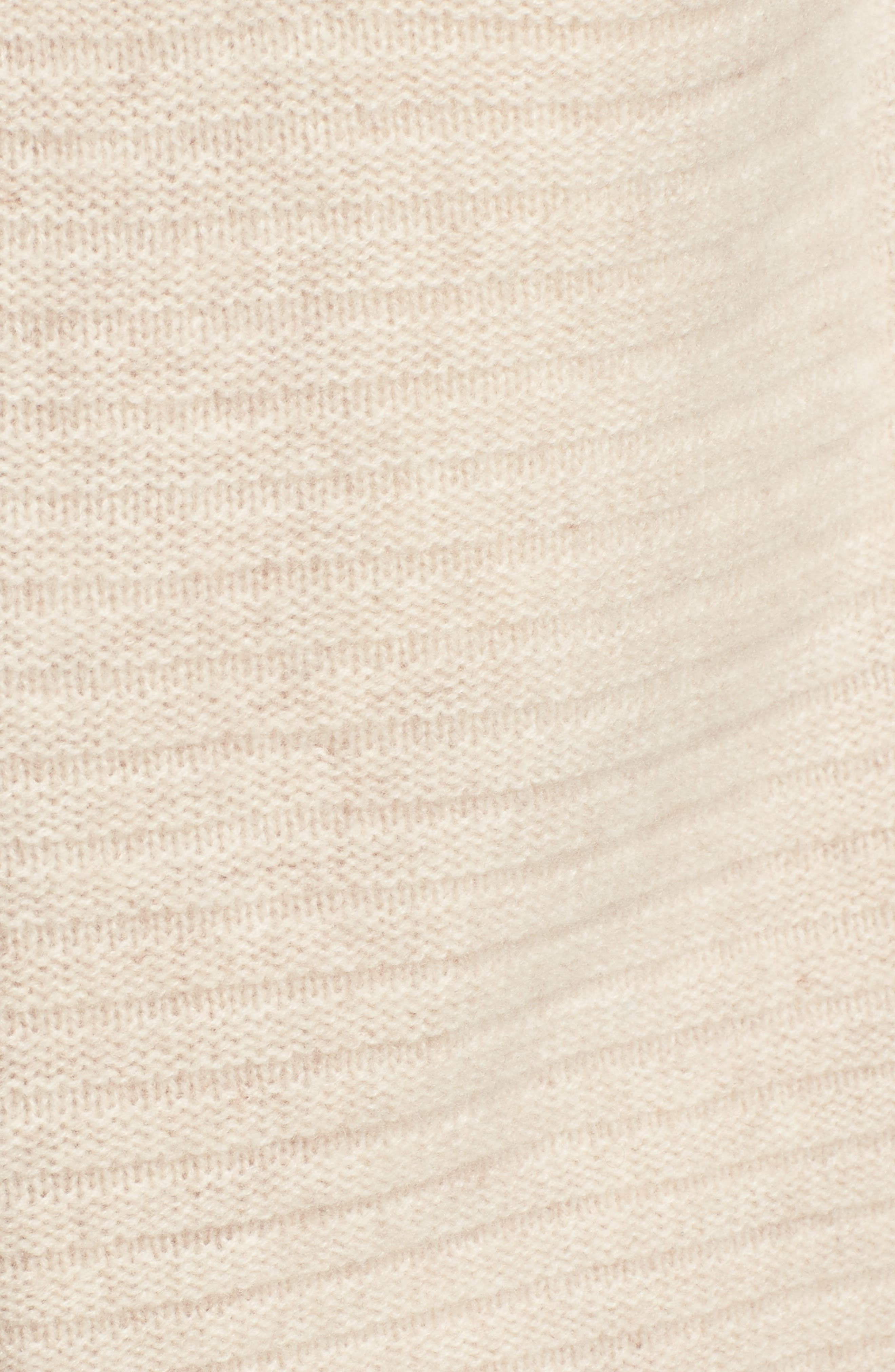 Alternate Image 5  - Halogen® Ribbed Cashmere Cardigan (Regular & Petite)