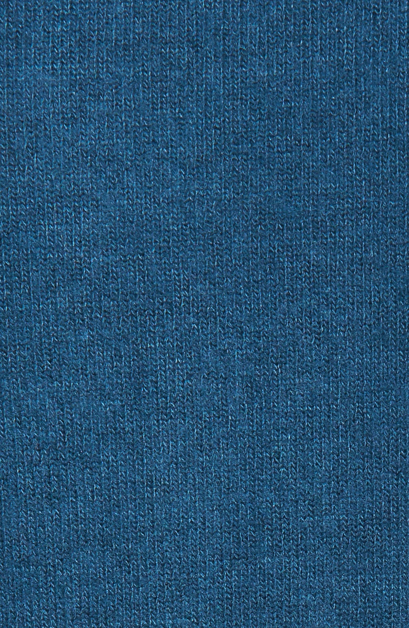 Side-Tie Fleece Pullover,                             Alternate thumbnail 5, color,                             Blue Ceramic