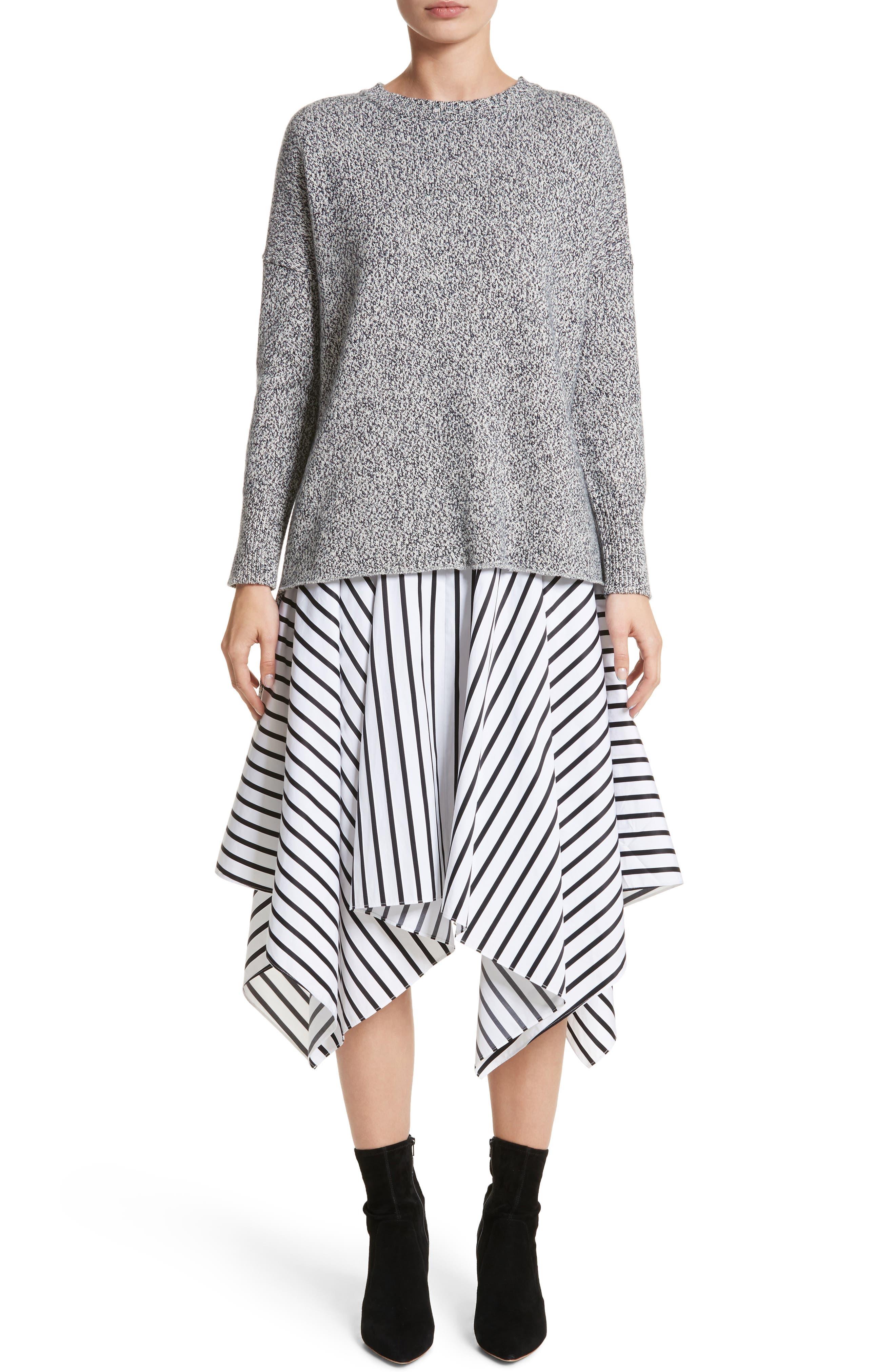 Alternate Image 7  - Adam Lippes Stripe Cotton Asymmetrical Skirt