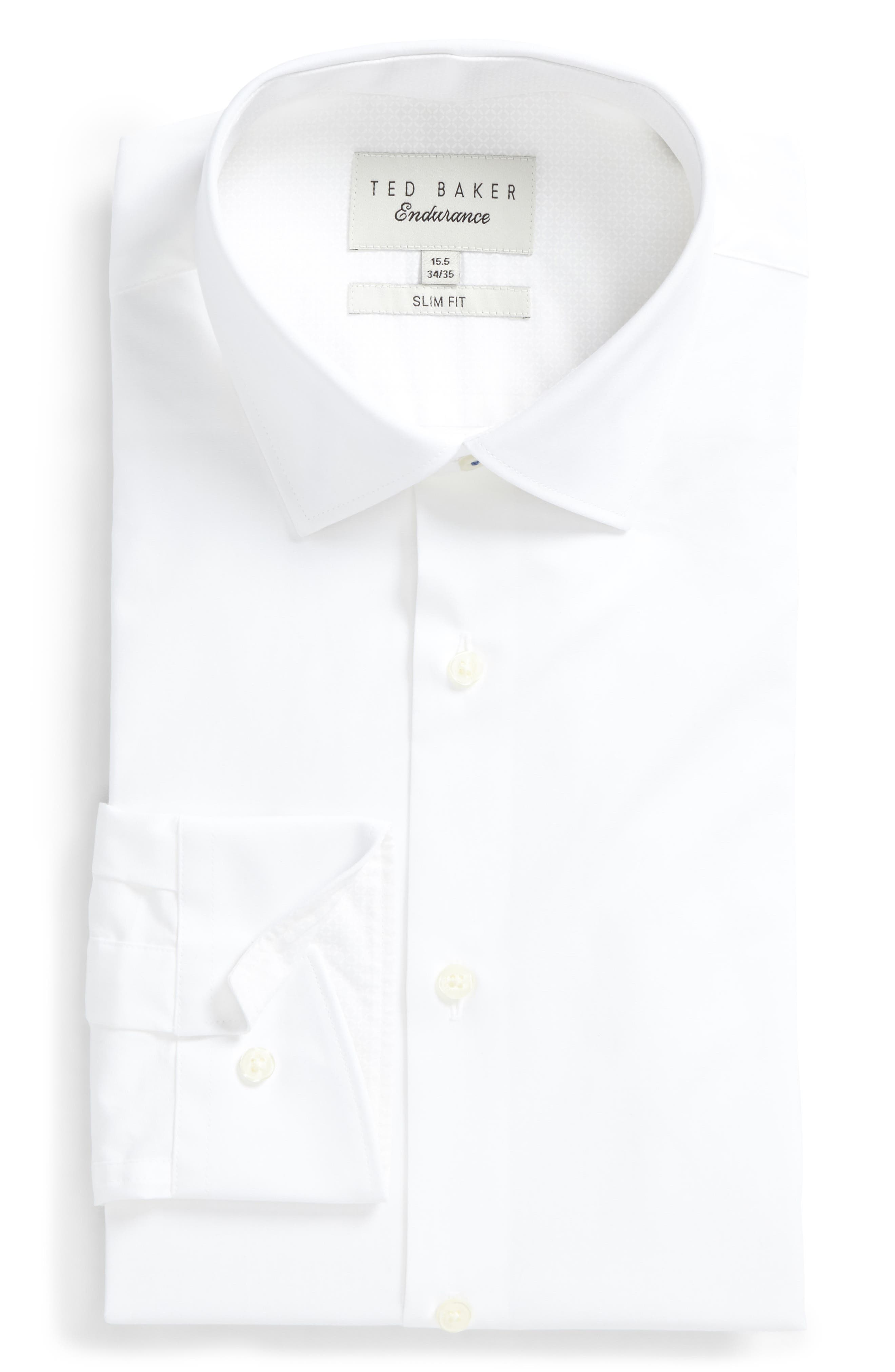 Endurance Bookers Slim Fit Solid Dress Shirt,                             Main thumbnail 1, color,                             White