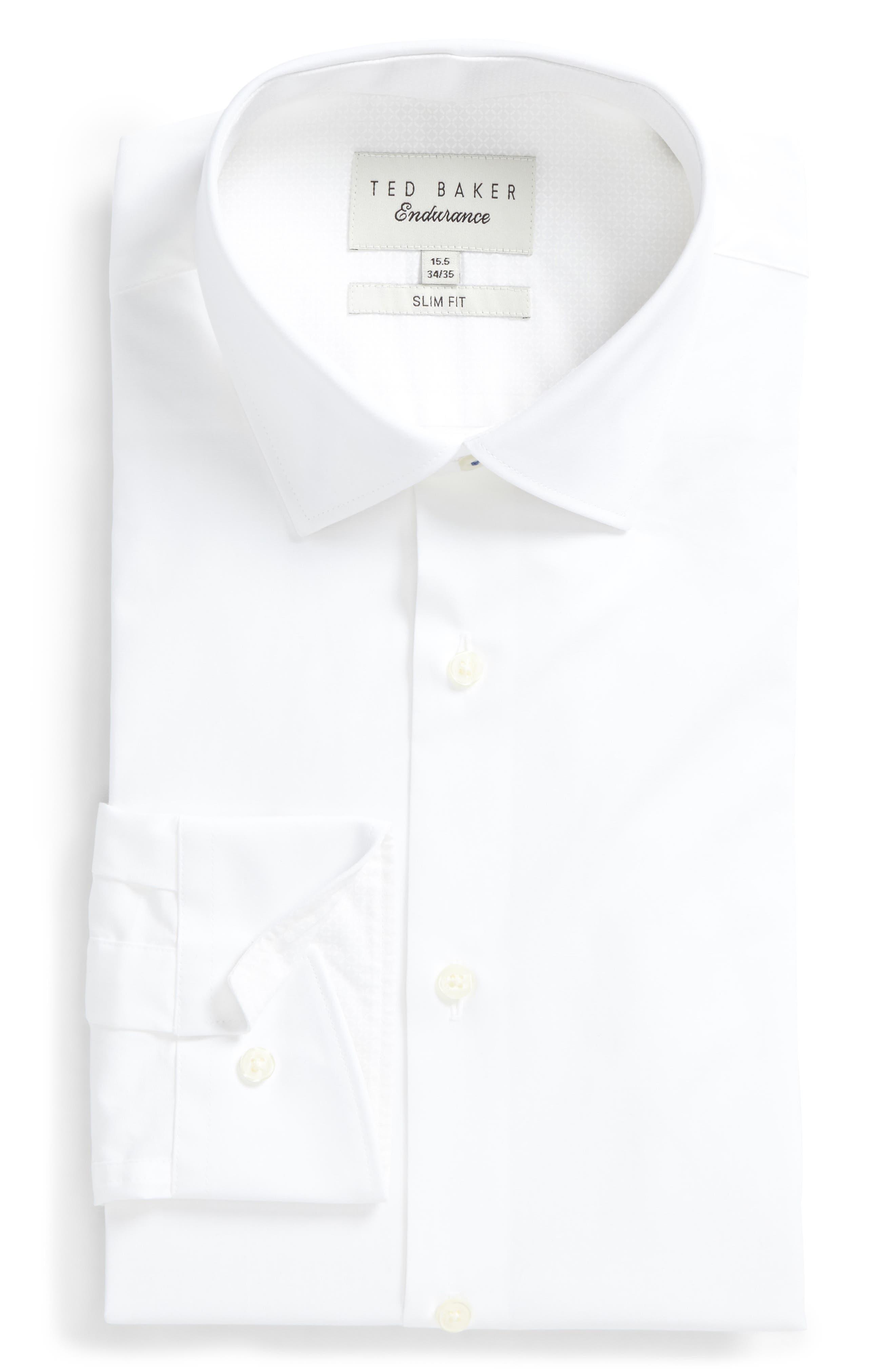 Main Image - Ted Baker London Endurance Bookers Slim Fit Solid Dress Shirt