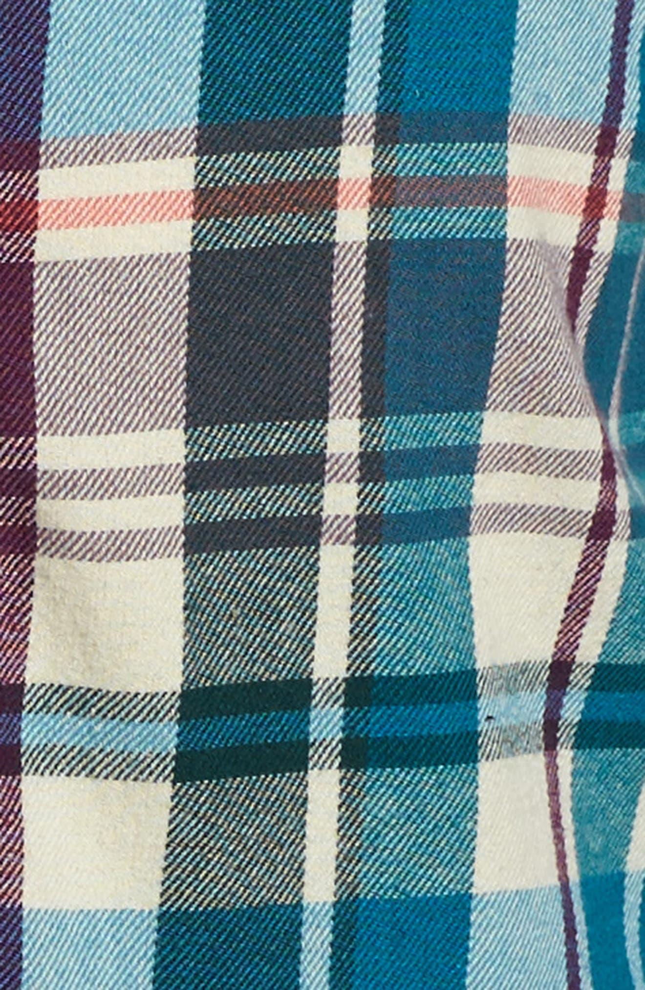 Alternate Image 3  - Tea Collection Applecross Plaid Flannel Shirtdress (Toddler Girls, Little Girls & Big Girls)