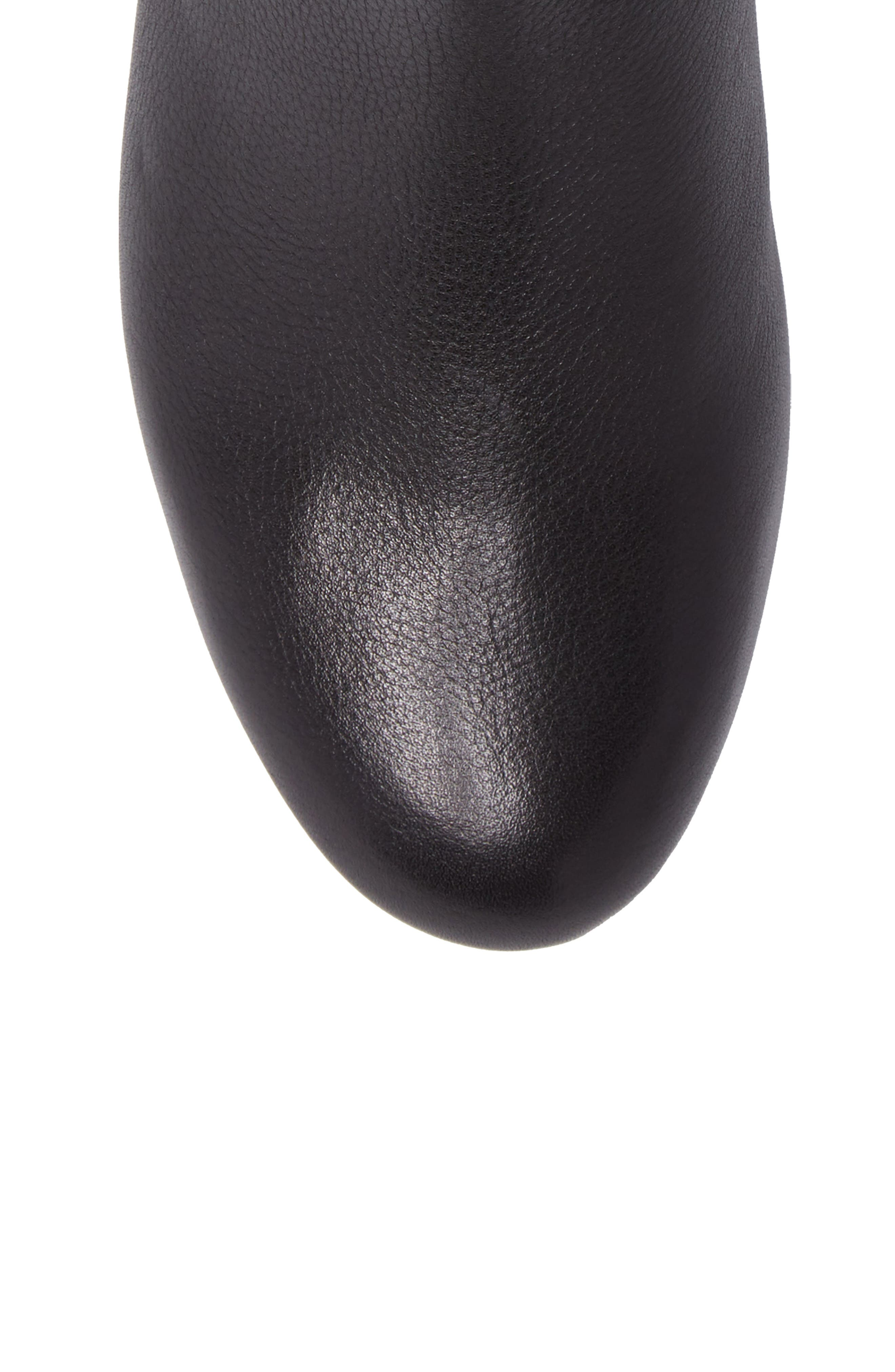 Maisie Bootie,                             Alternate thumbnail 5, color,                             Black Tumbled Leather