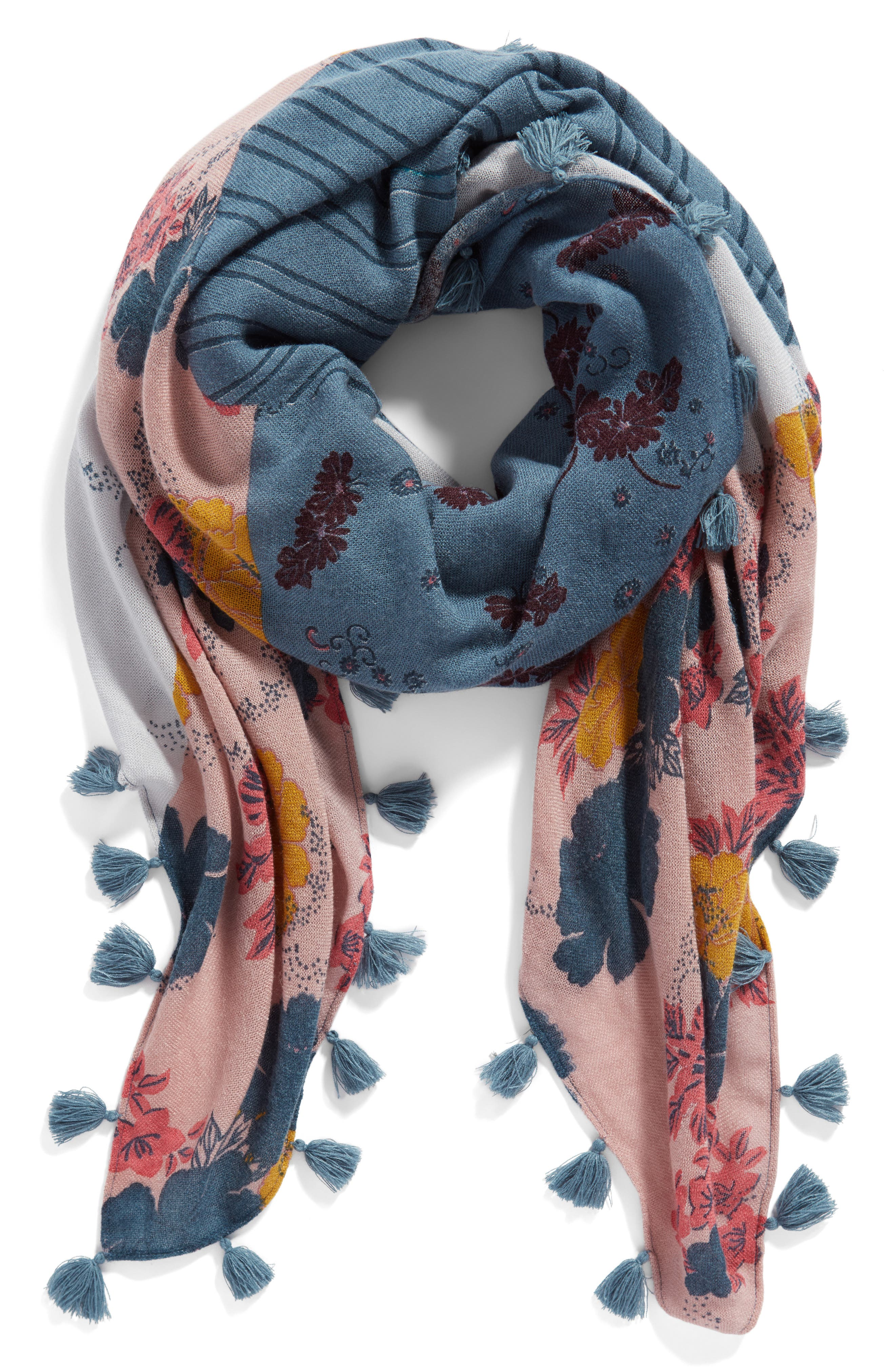 Alternate Image 3  - Treasure & Bond Floral Fantasy Tassel Scarf