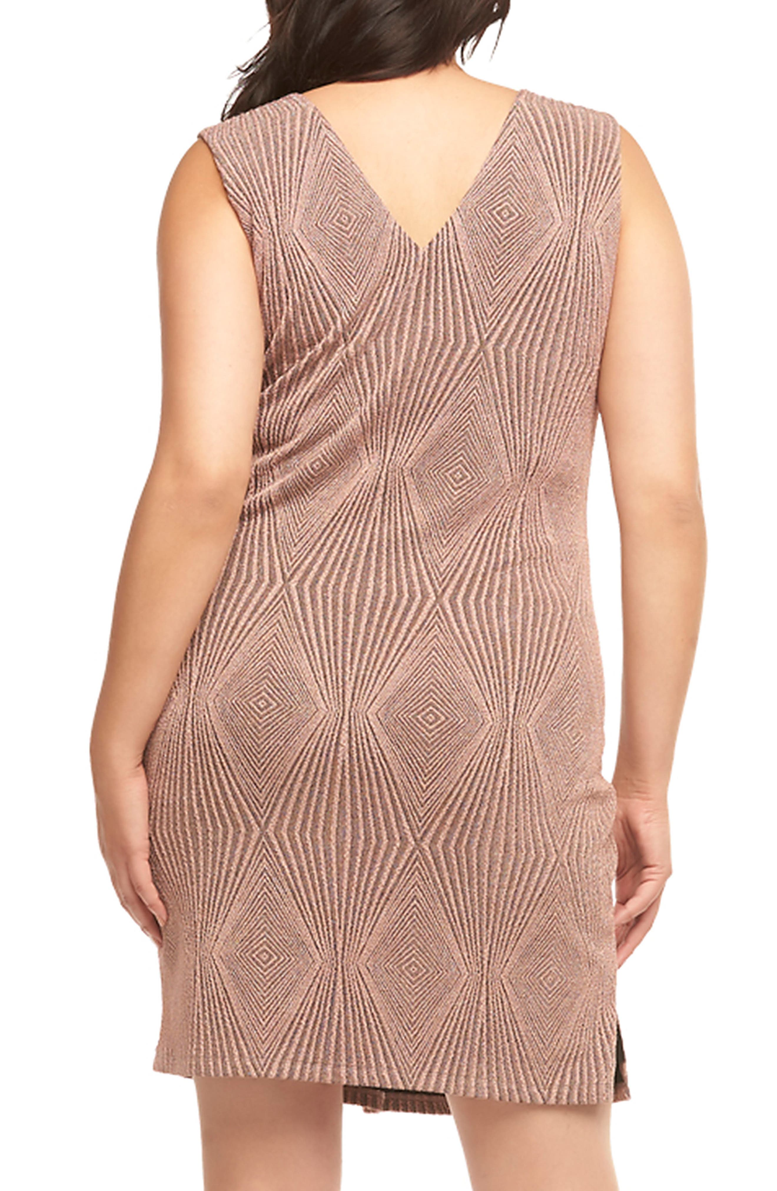 Alternate Image 2  - Tart Rebecca Metallic Sheath Dress (Plus Size)