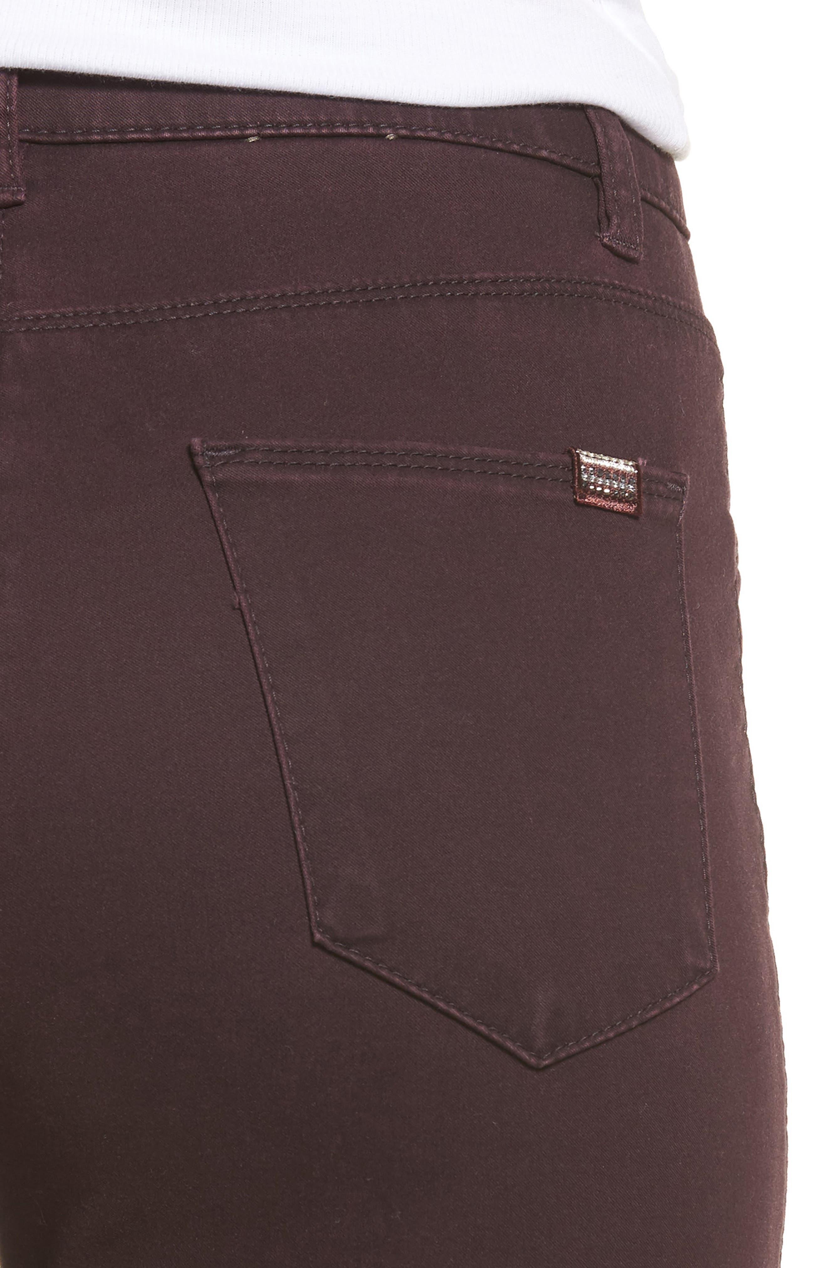 Straight Leg Pants,                             Alternate thumbnail 4, color,                             Amarone