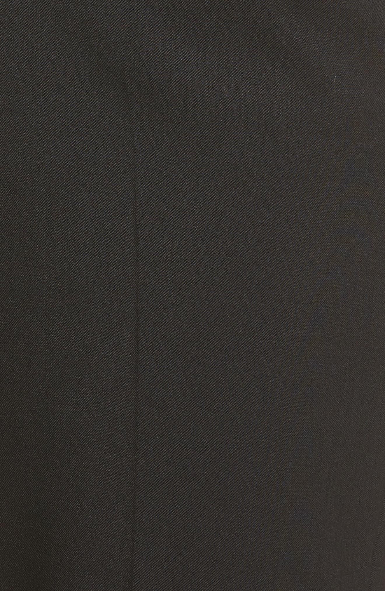 Straight Leg Trousers,                             Alternate thumbnail 5, color,                             Black