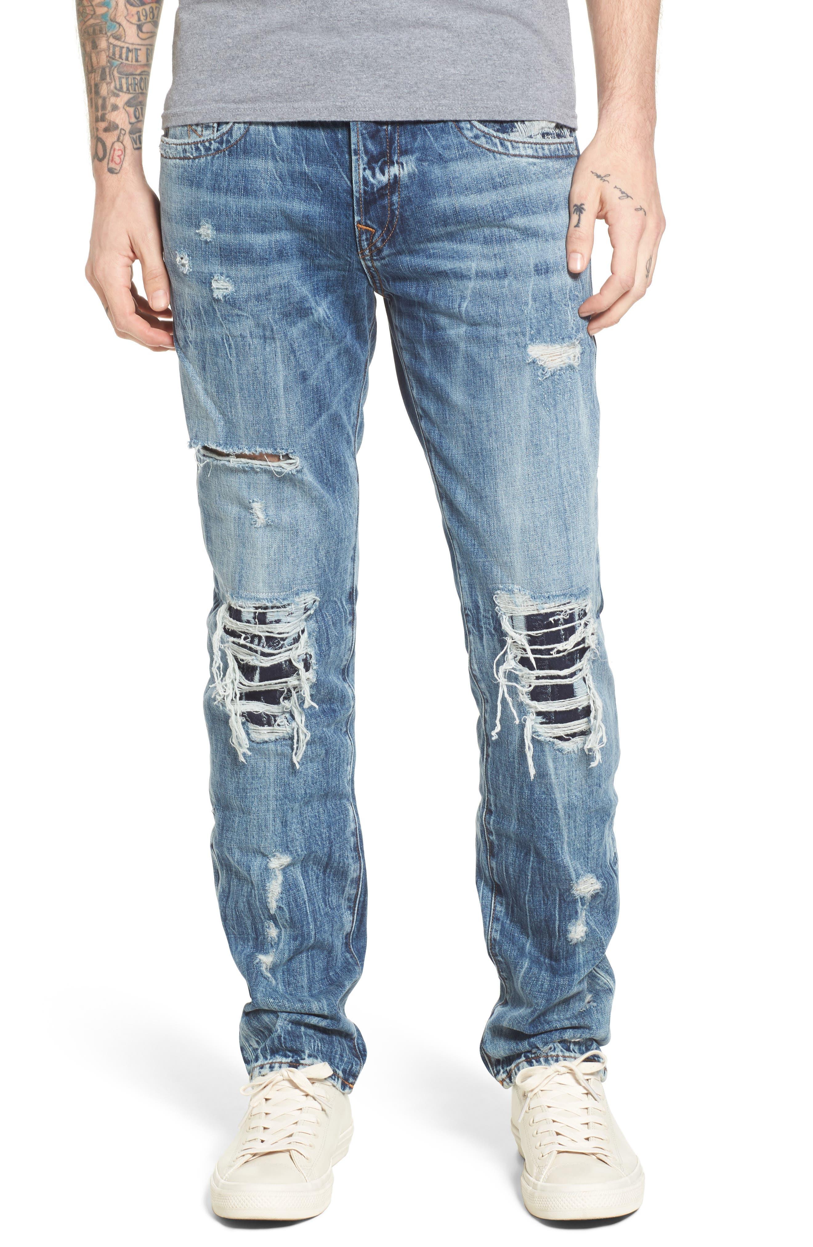 True Religion Brand Jeans Rocco Skinny Fit Jeans (Indigo Birch)