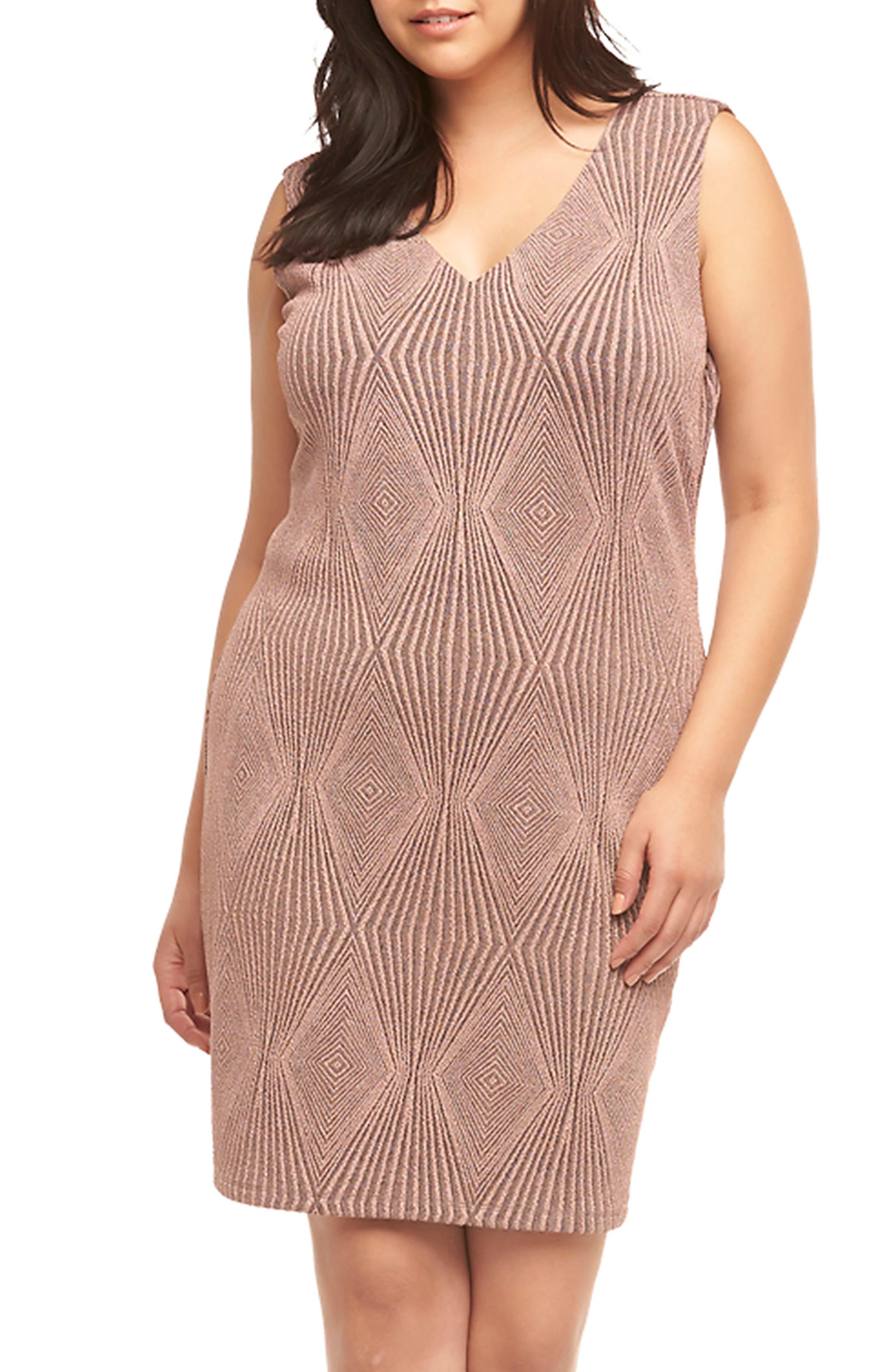 Alternate Image 4  - Tart Rebecca Metallic Sheath Dress (Plus Size)