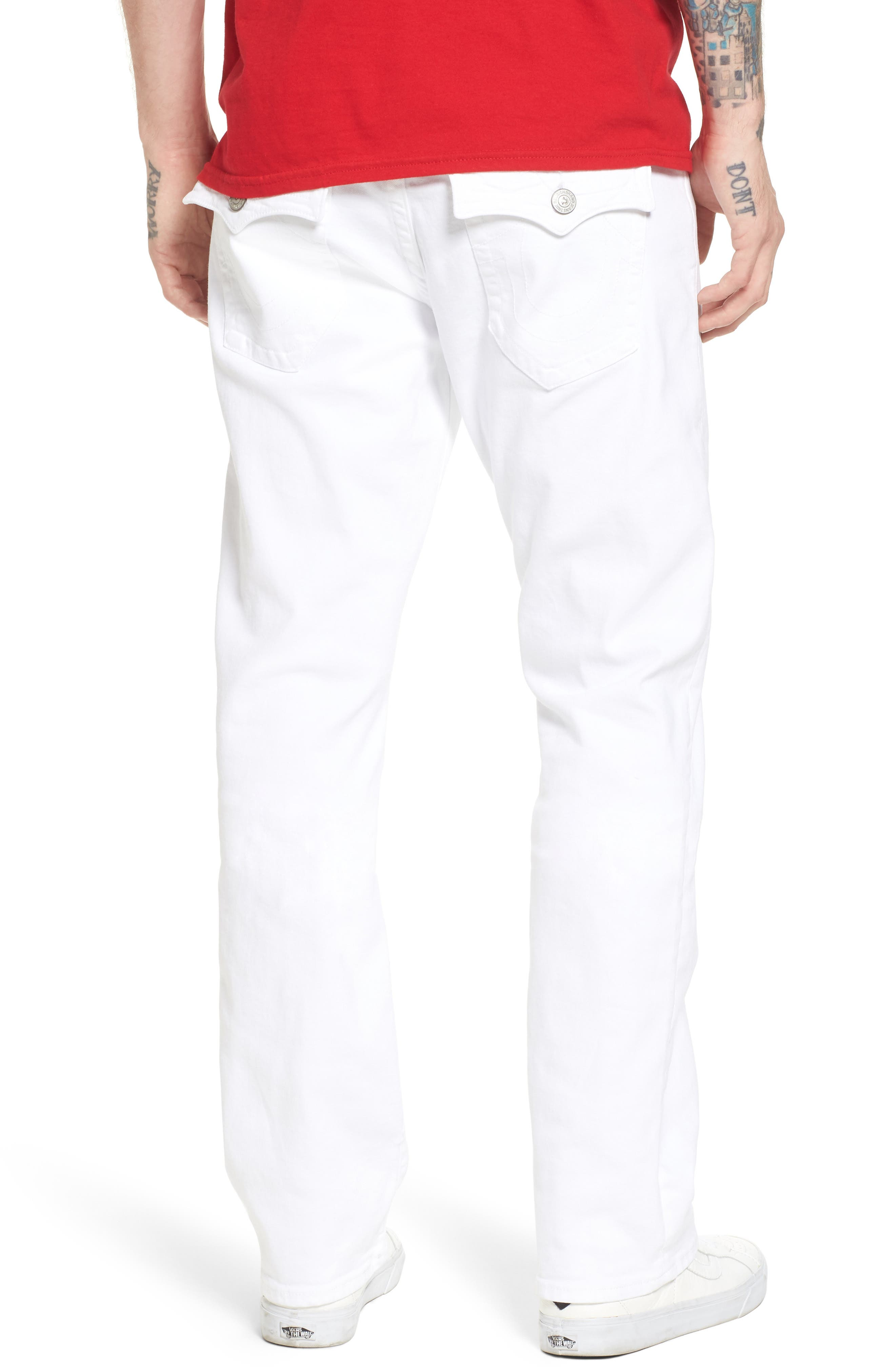 Alternate Image 2  - True Religion Brand Jeans Ricky Relaxed Fit Jeans (Optic Stone)