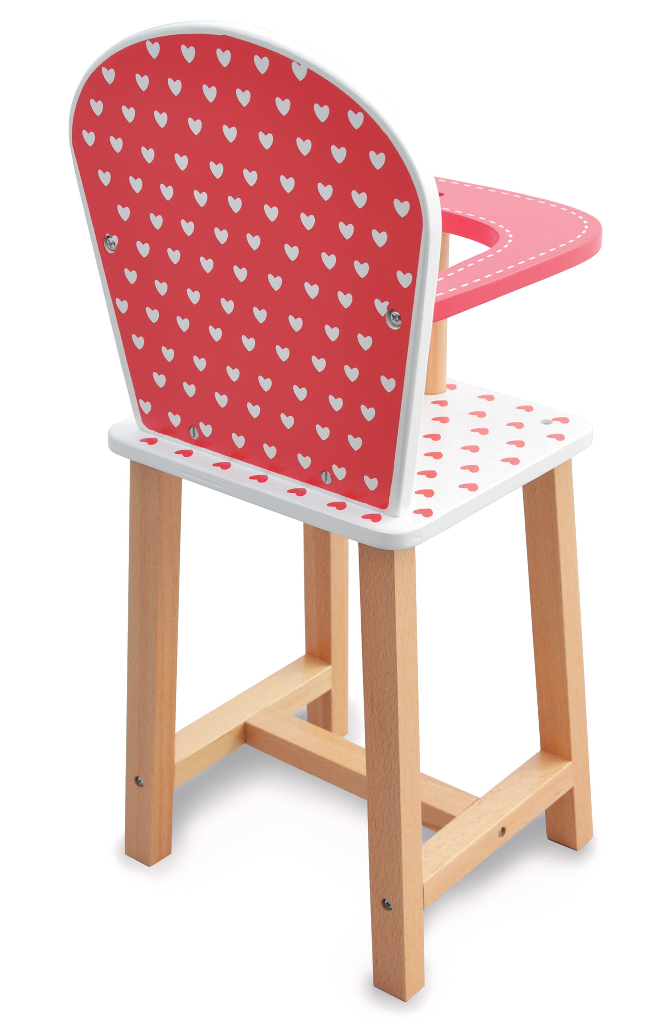 Hearts Highchair,                             Alternate thumbnail 2, color,                             Red