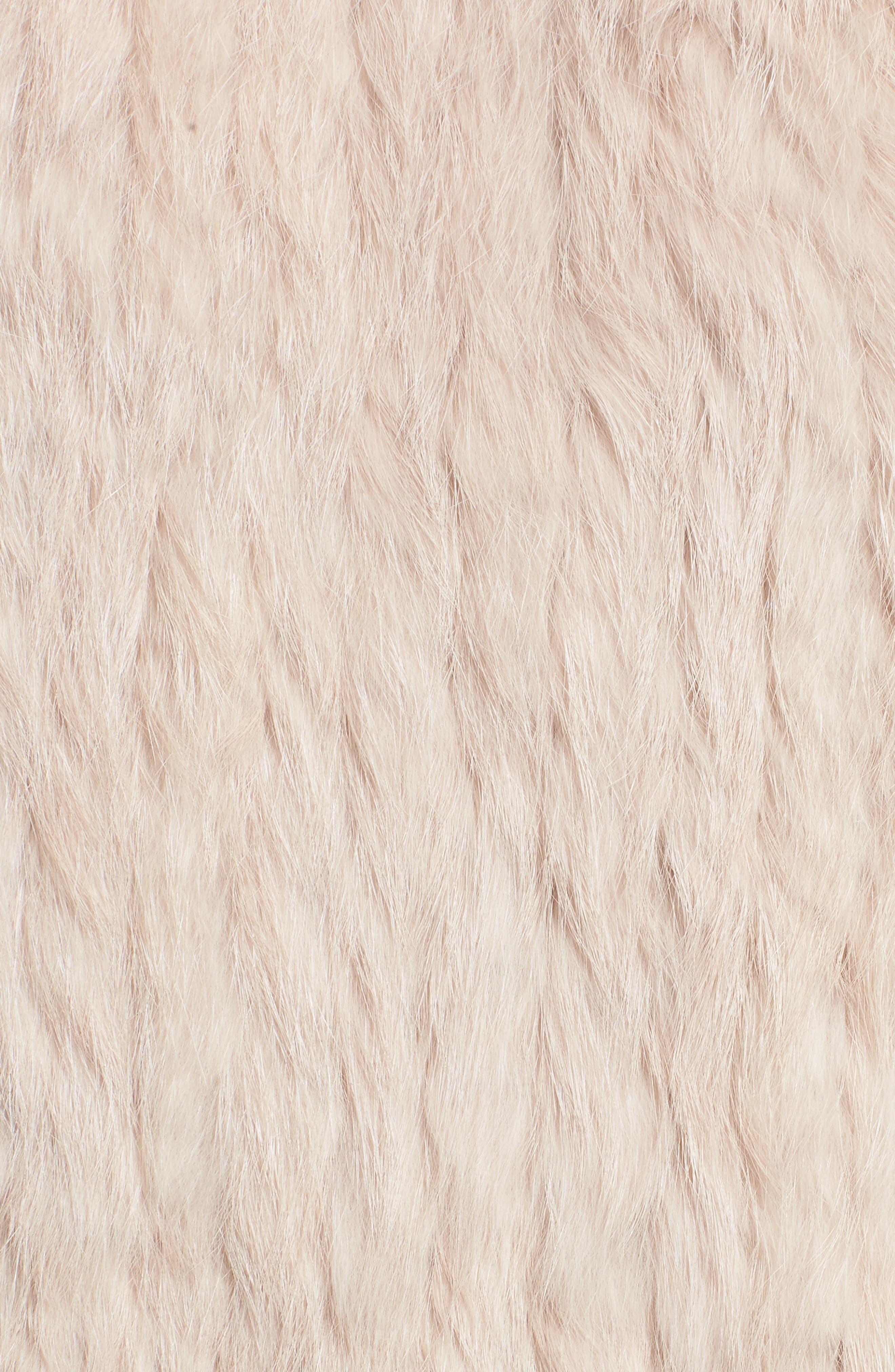 Clean Colorblock Genuine Rabbit Fur Vest,                             Alternate thumbnail 5, color,                             Blush/ Grey