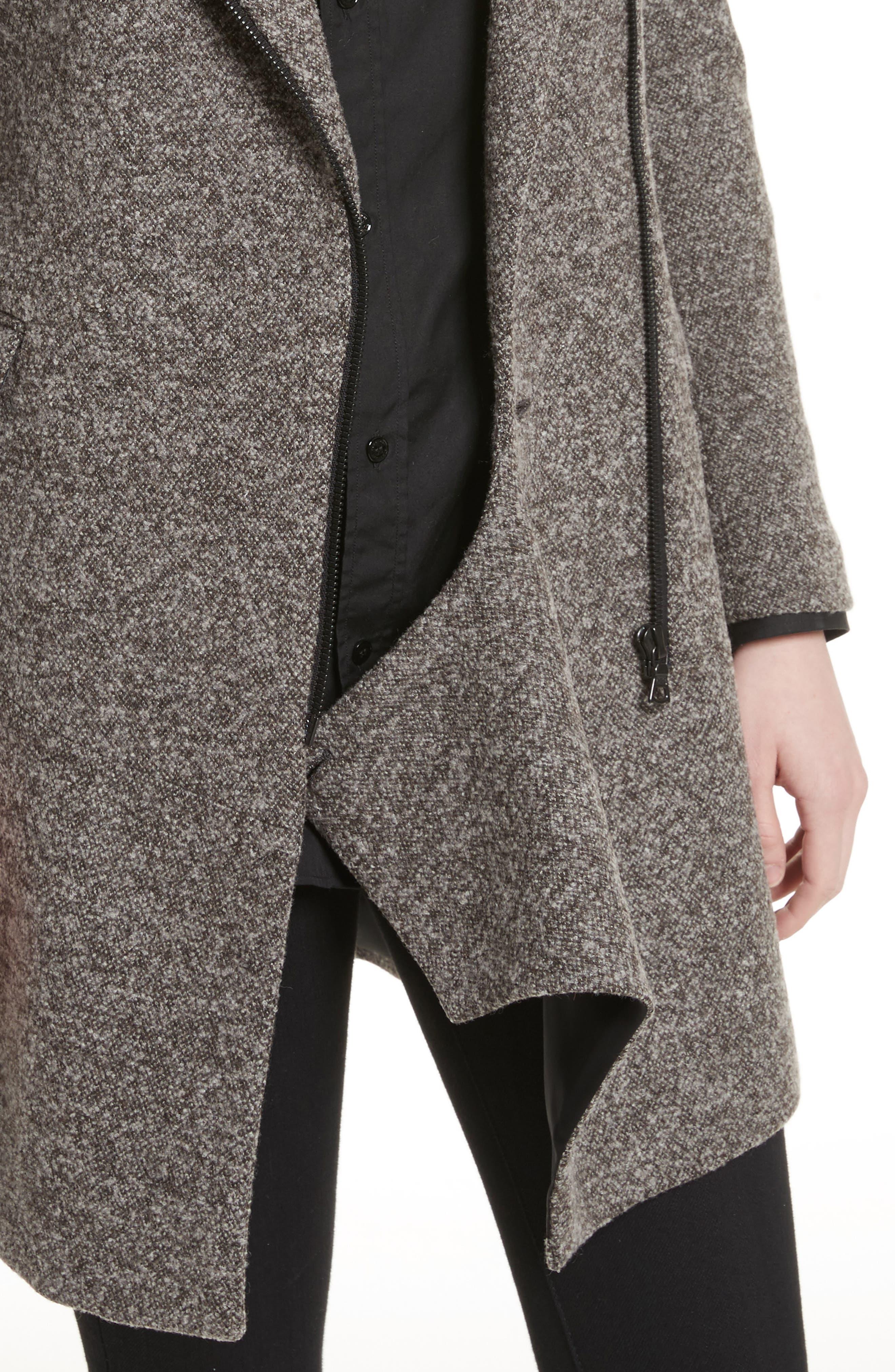 Jersey Galaxy Tweed Jacket,                             Alternate thumbnail 4, color,                             Grey