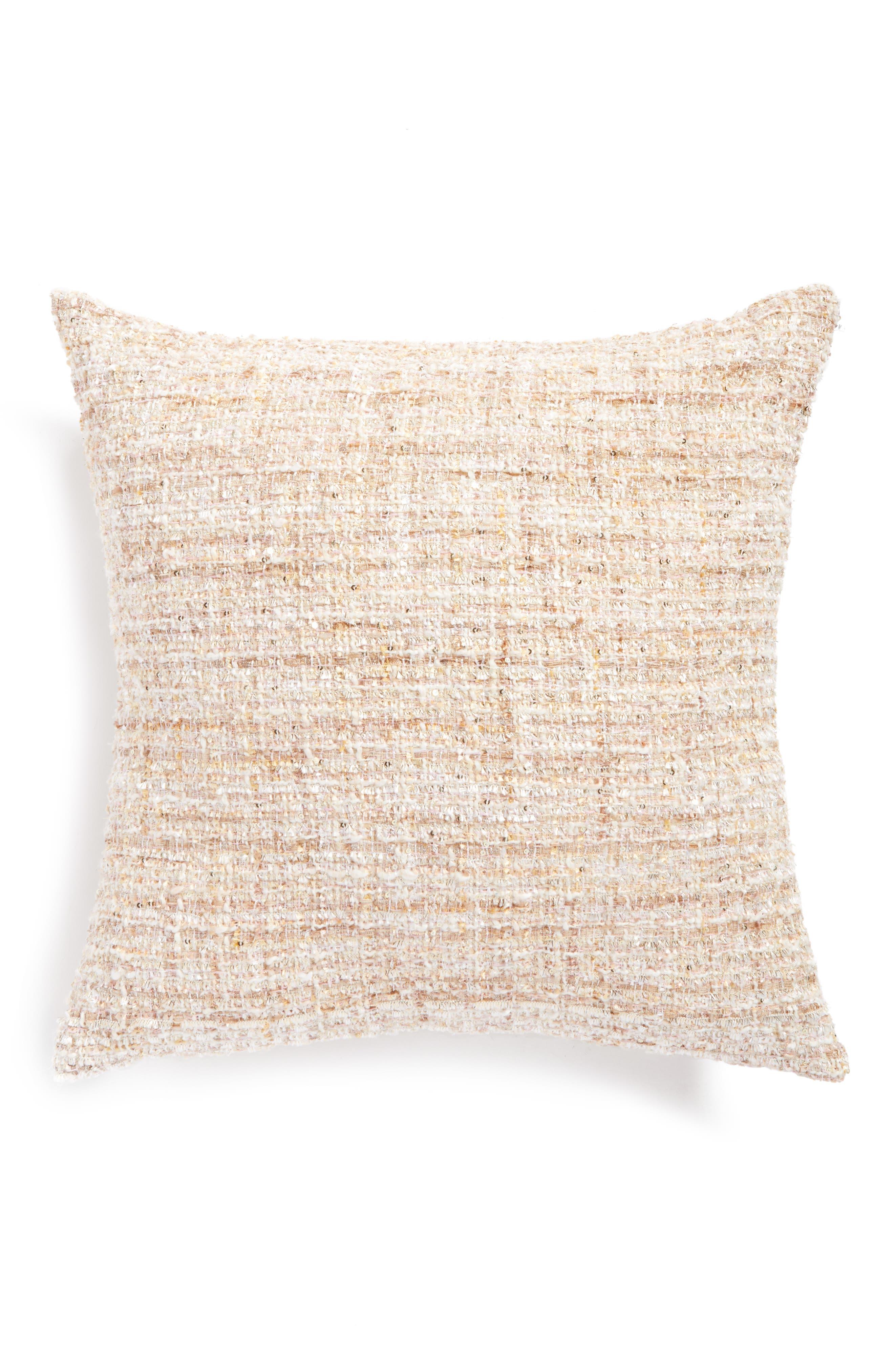 Metallic Accent Pillow,                         Main,                         color, Blush