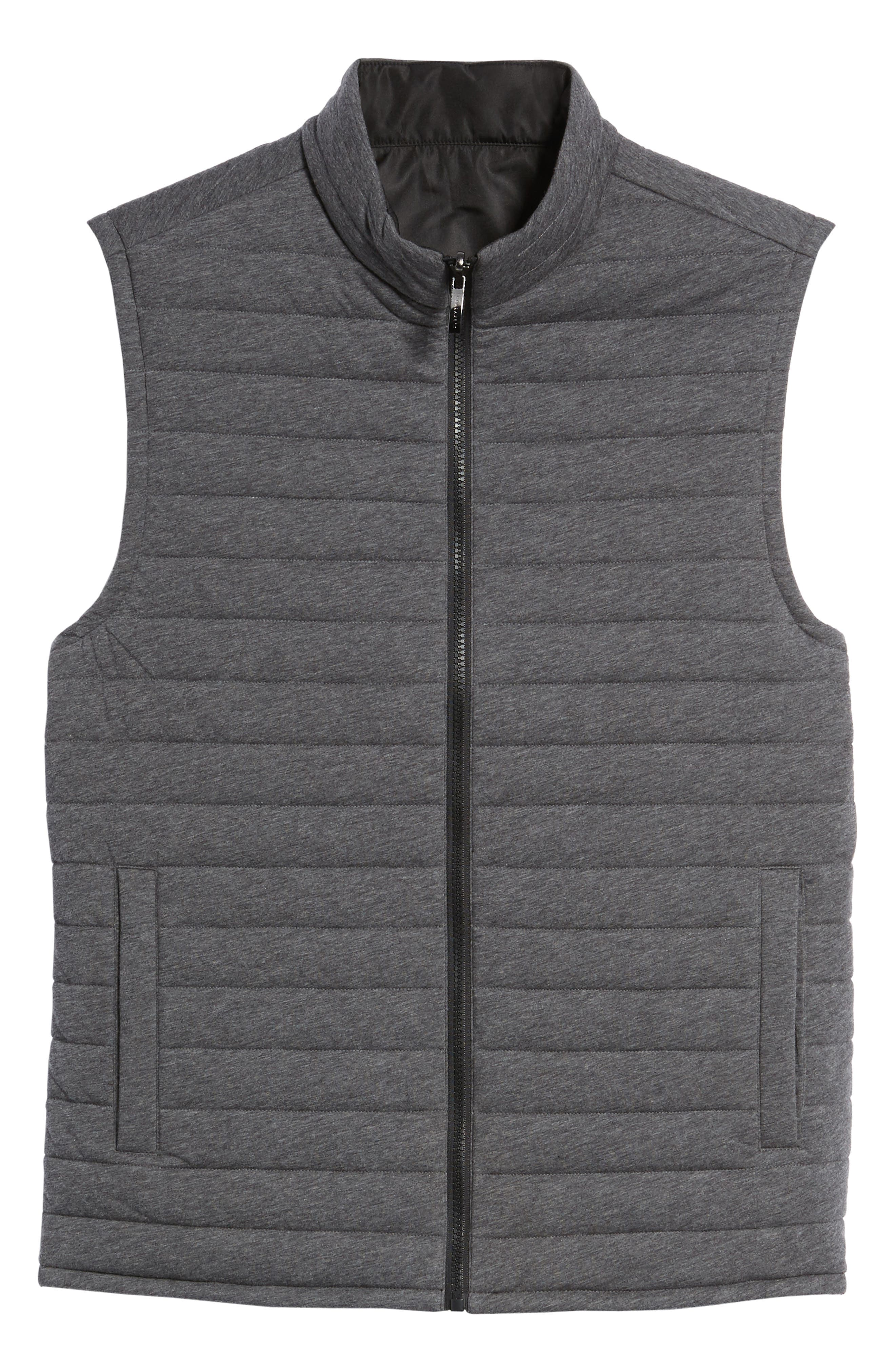 Gallagher Reversible Vest,                             Alternate thumbnail 5, color,                             Charcoal