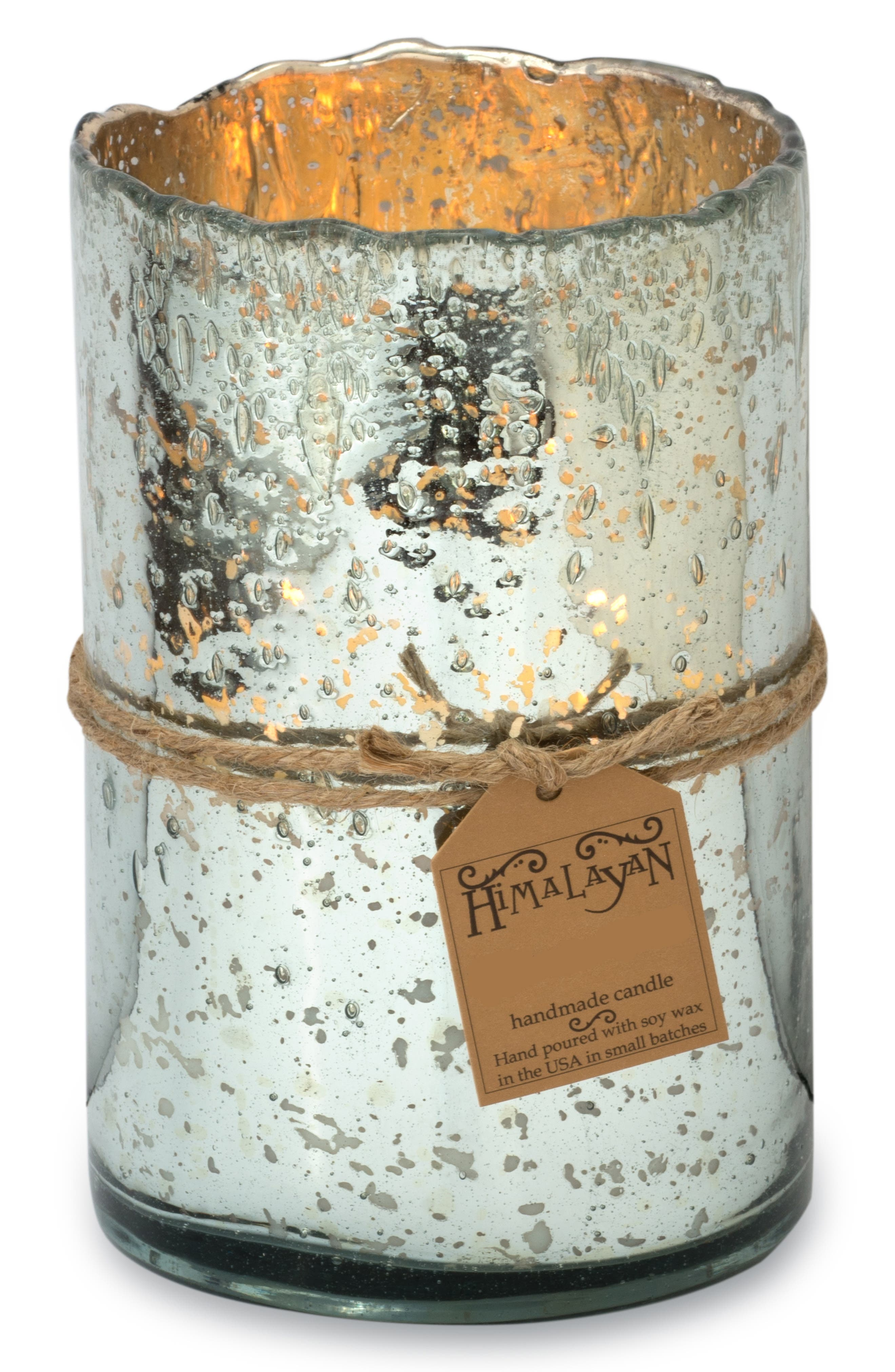 Alternate Image 2  - Himalayan Trading Post Mercury Glass Scented Hurricane Candle
